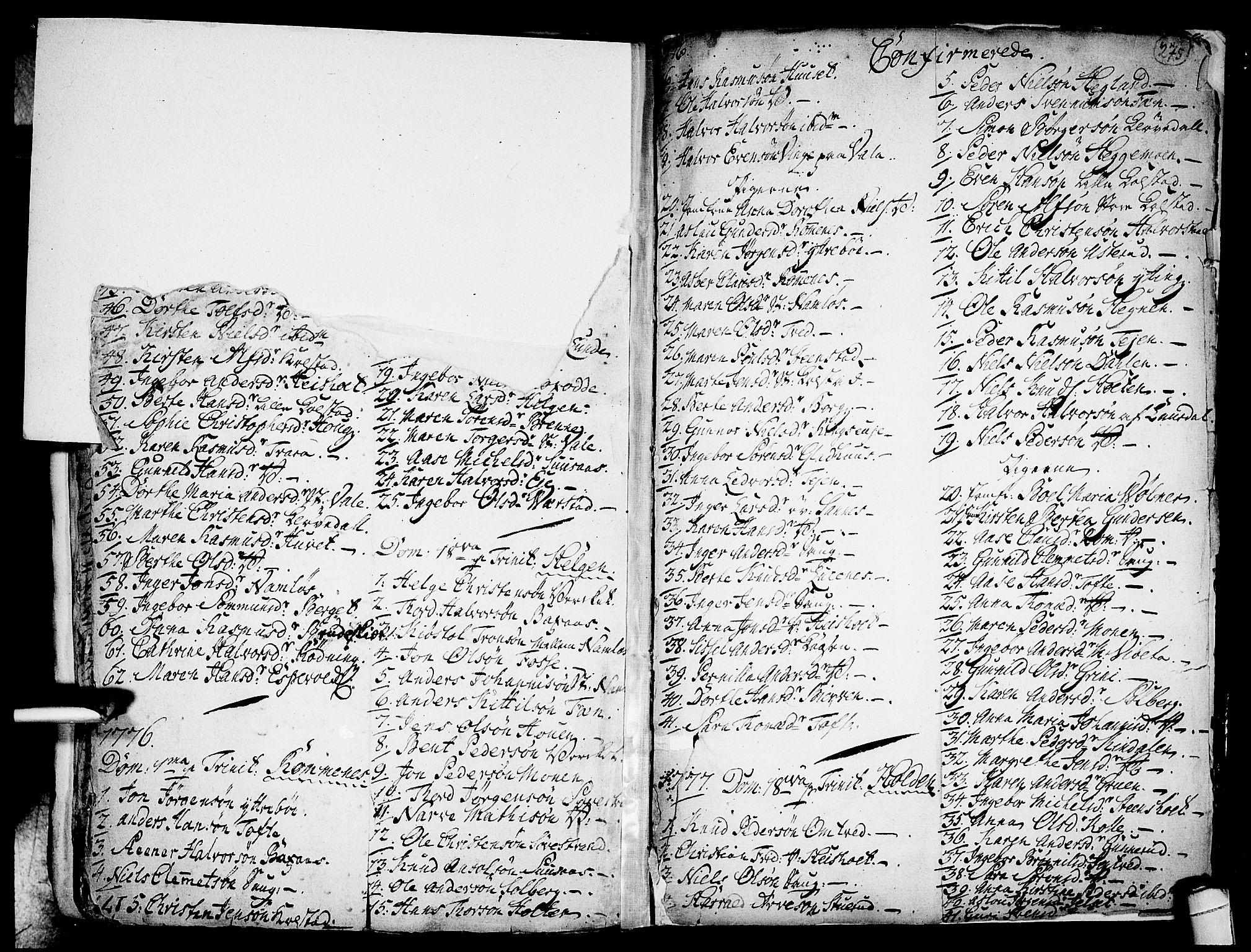 SAKO, Holla kirkebøker, F/Fa/L0001: Ministerialbok nr. 1, 1717-1779, s. 275