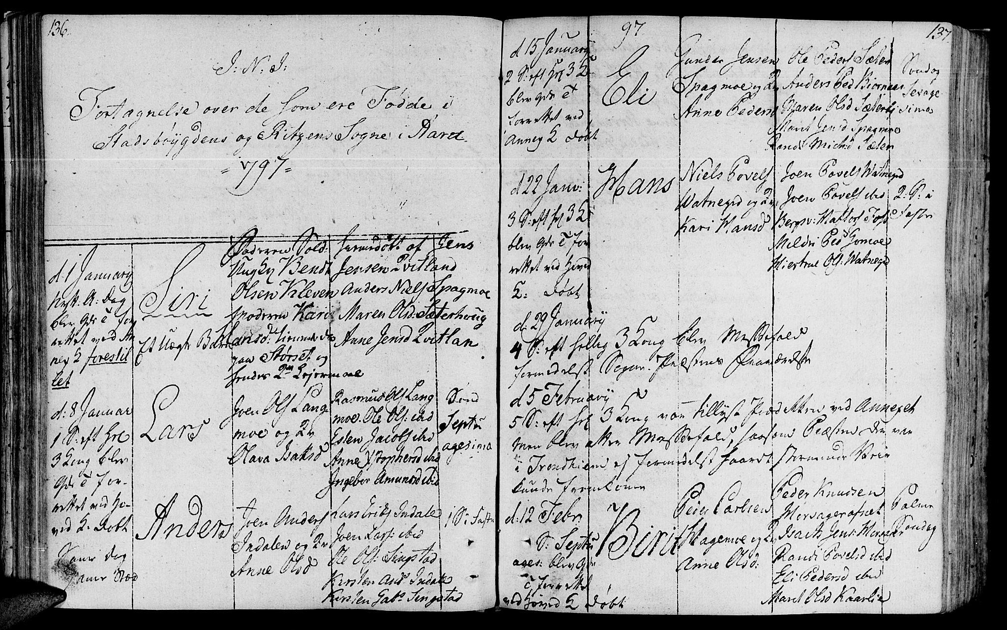 SAT, Ministerialprotokoller, klokkerbøker og fødselsregistre - Sør-Trøndelag, 646/L0606: Ministerialbok nr. 646A04, 1791-1805, s. 136-137