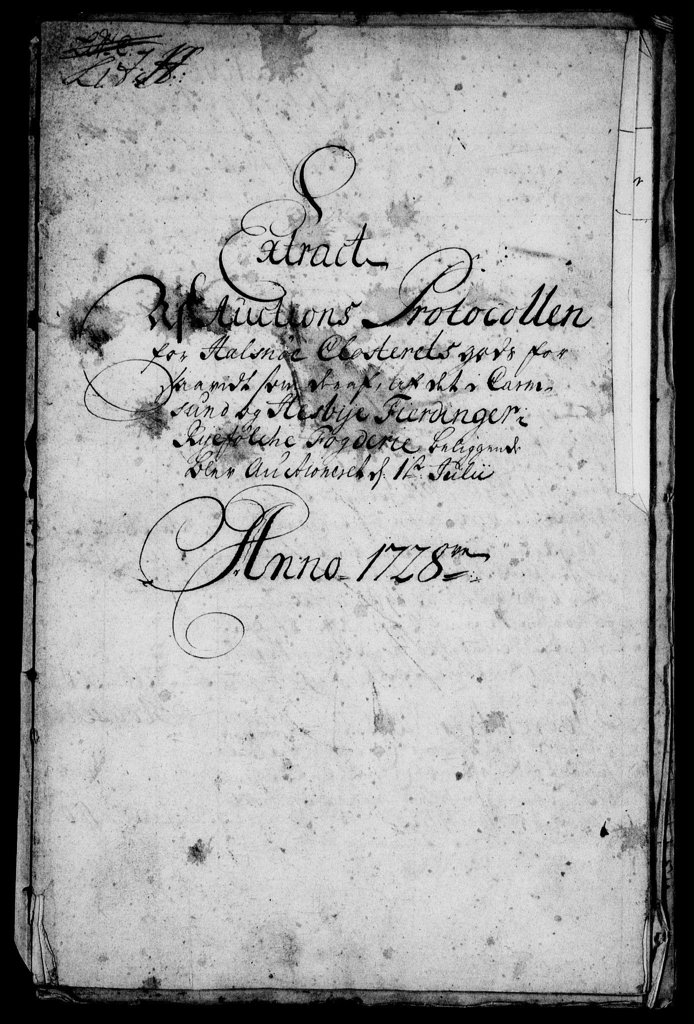 RA, Rentekammeret inntil 1814, Realistisk ordnet avdeling, On/L0003: [Jj 4]: Kommisjonsforretning over Vilhelm Hanssøns forpaktning av Halsnøy klosters gods, 1721-1729, s. 509