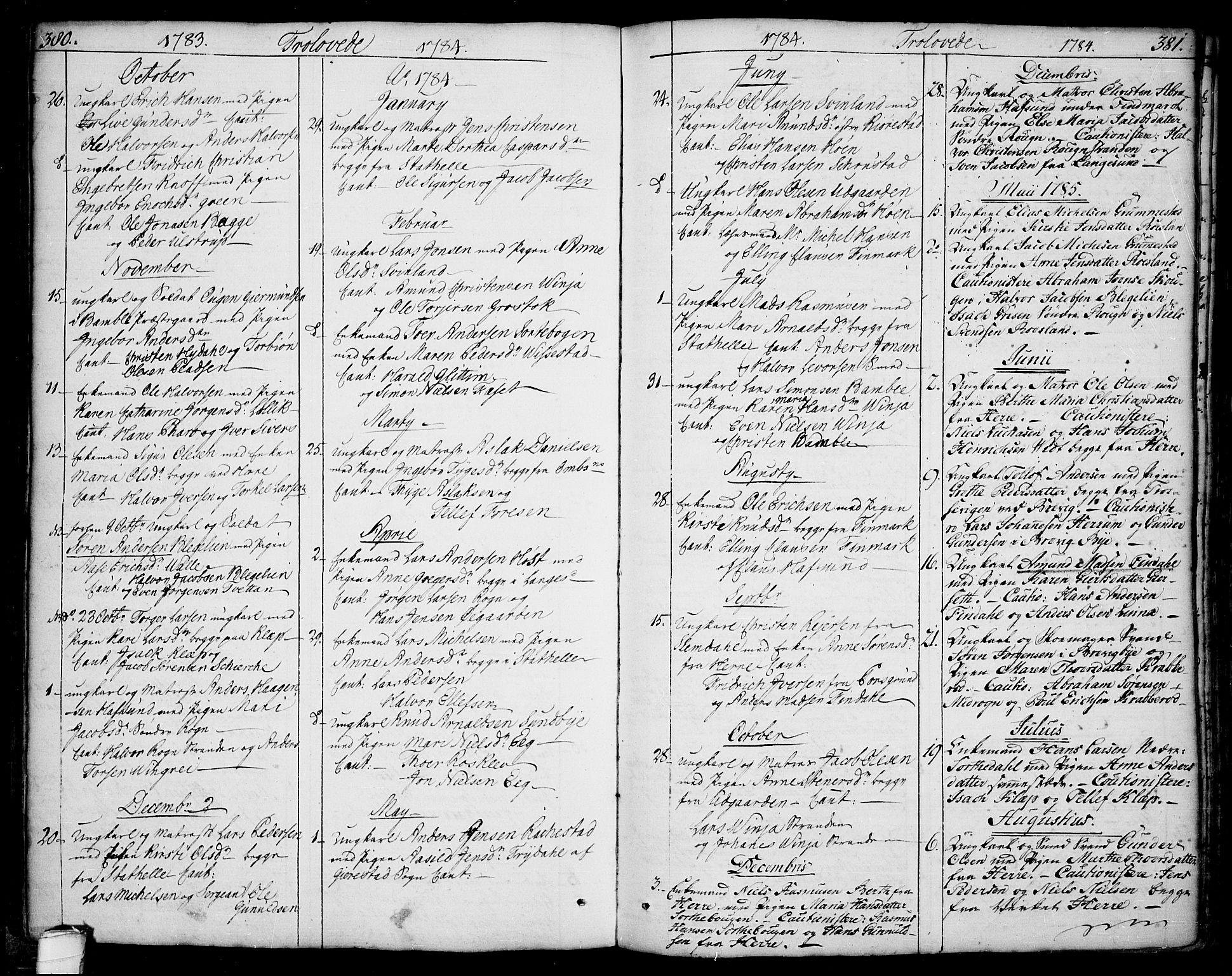 SAKO, Bamble kirkebøker, F/Fa/L0002: Ministerialbok nr. I 2, 1775-1814, s. 380-381