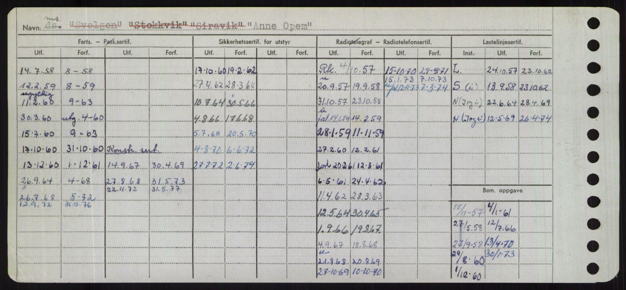 RA, Sjøfartsdirektoratet med forløpere, Skipsmålingen, H/Hd/L0001: Fartøy, A-Anv, s. 748
