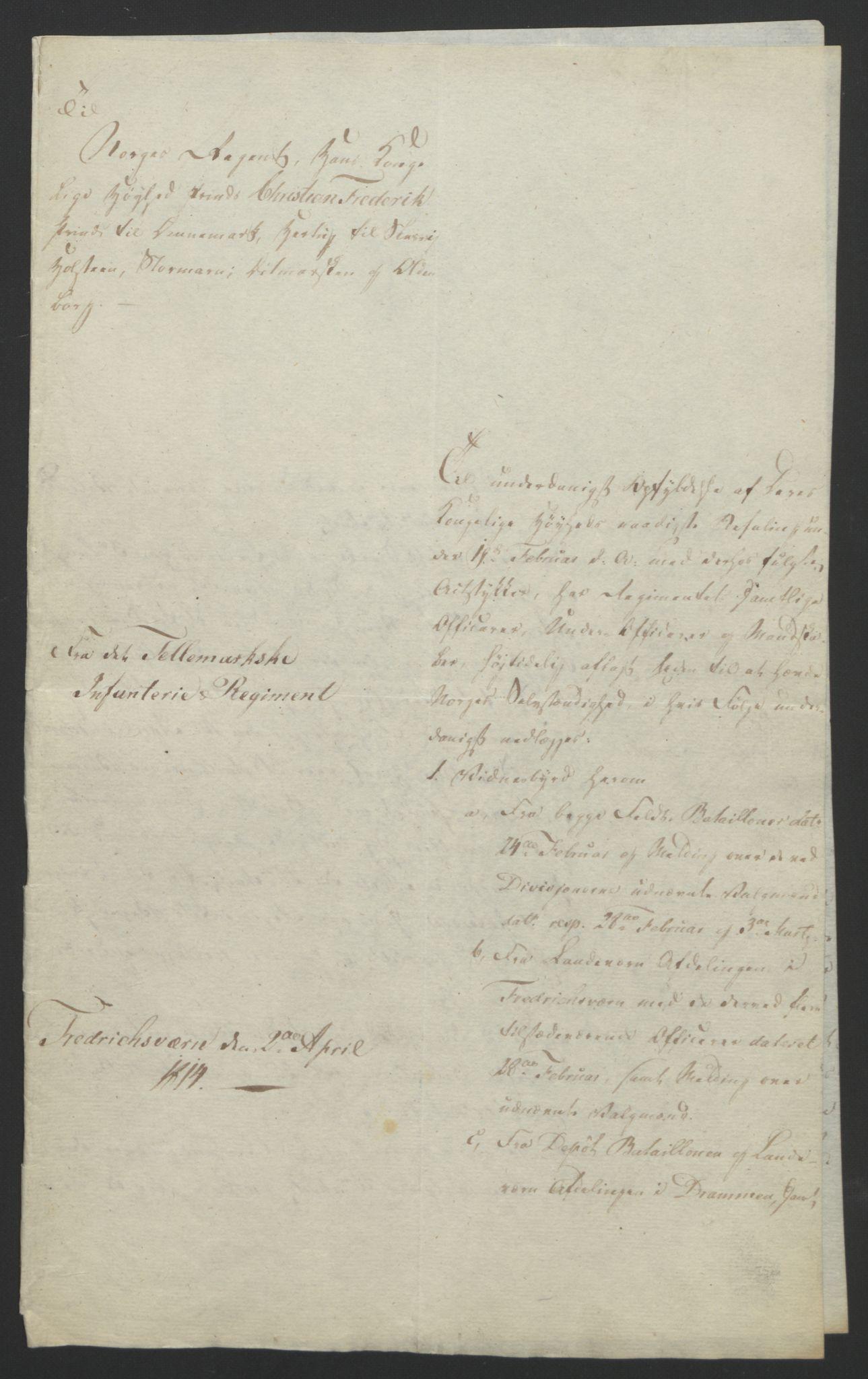 RA, Statsrådssekretariatet, D/Db/L0007: Fullmakter for Eidsvollsrepresentantene i 1814. , 1814, s. 93