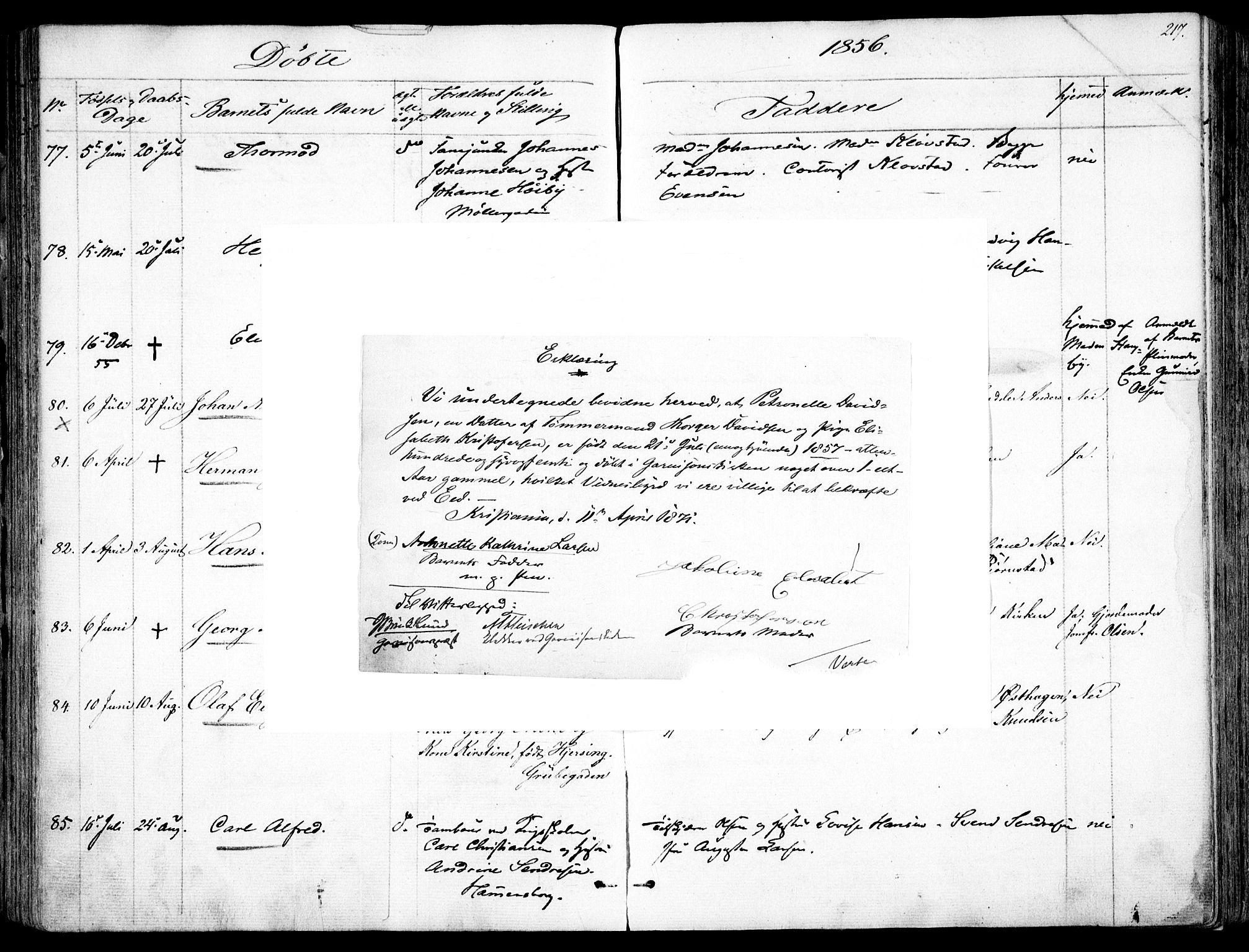 SAO, Garnisonsmenigheten Kirkebøker, F/Fa/L0008: Ministerialbok nr. 8, 1842-1859