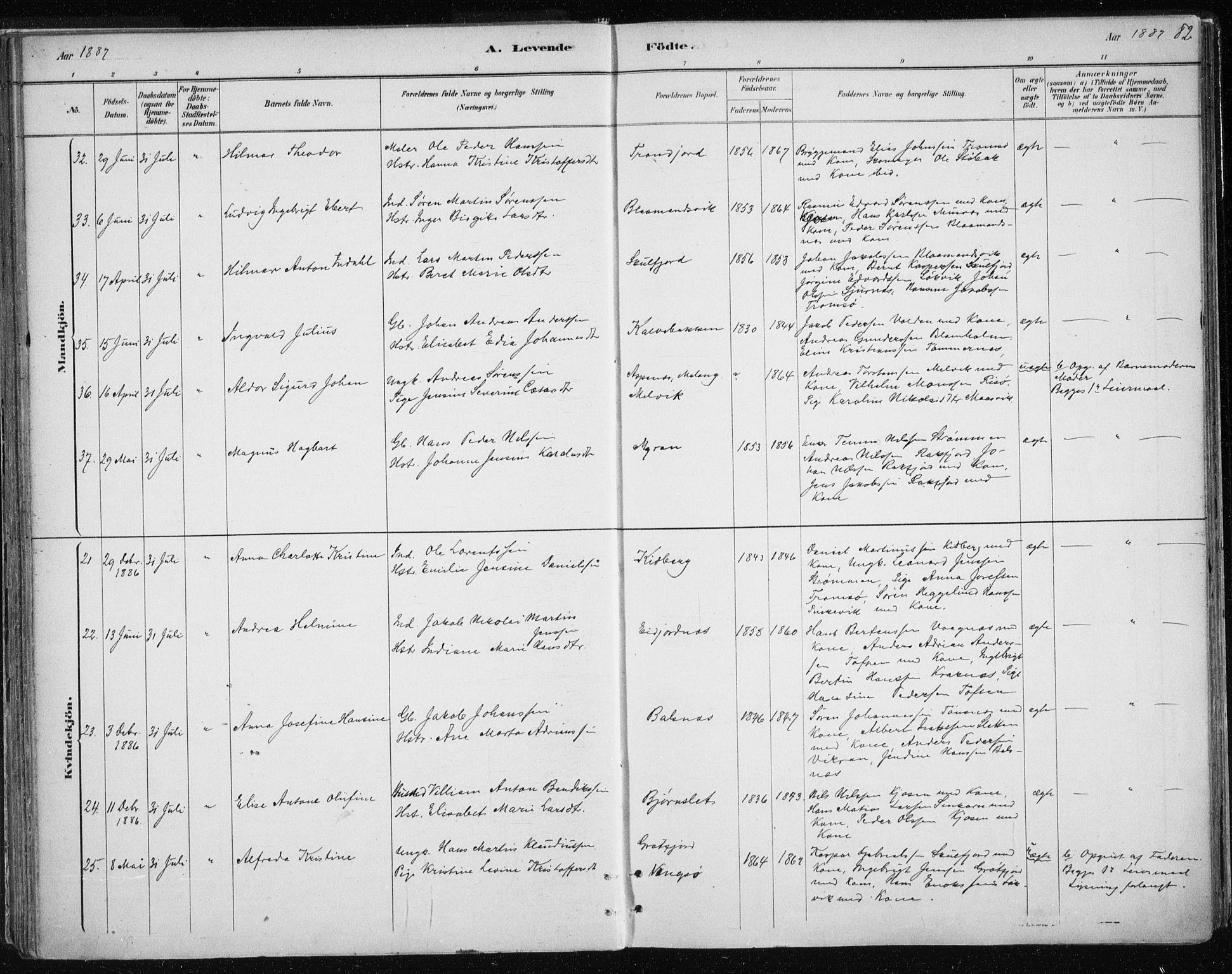 SATØ, Tromsøysund sokneprestkontor, G/Ga/L0004kirke: Ministerialbok nr. 4, 1880-1888, s. 82