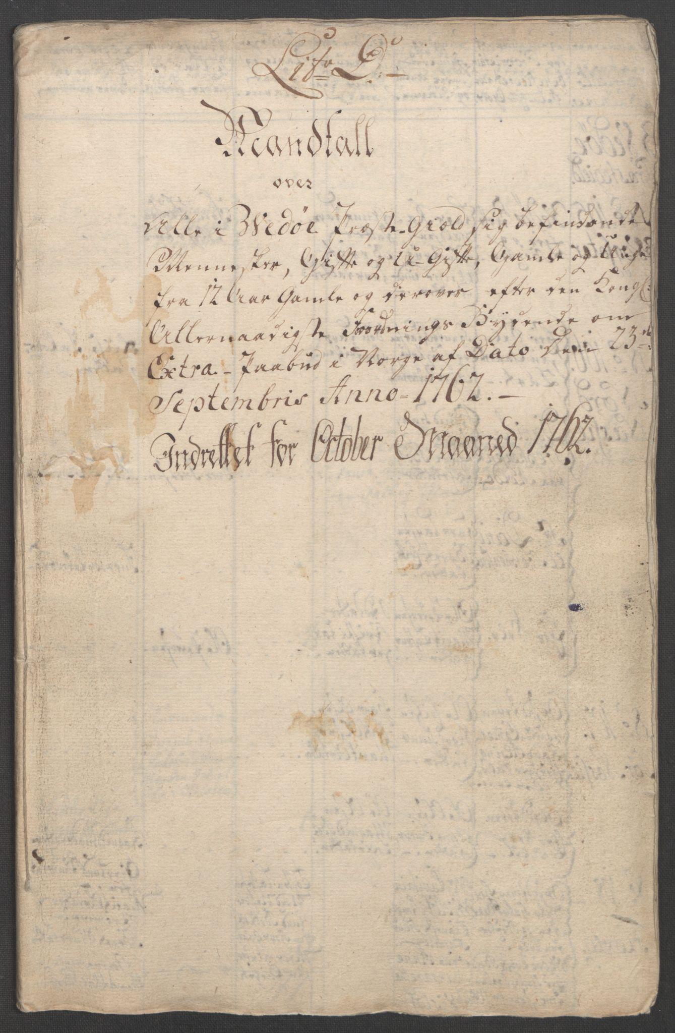 RA, Rentekammeret inntil 1814, Reviderte regnskaper, Fogderegnskap, R55/L3730: Ekstraskatten Romsdal, 1762-1763, s. 234