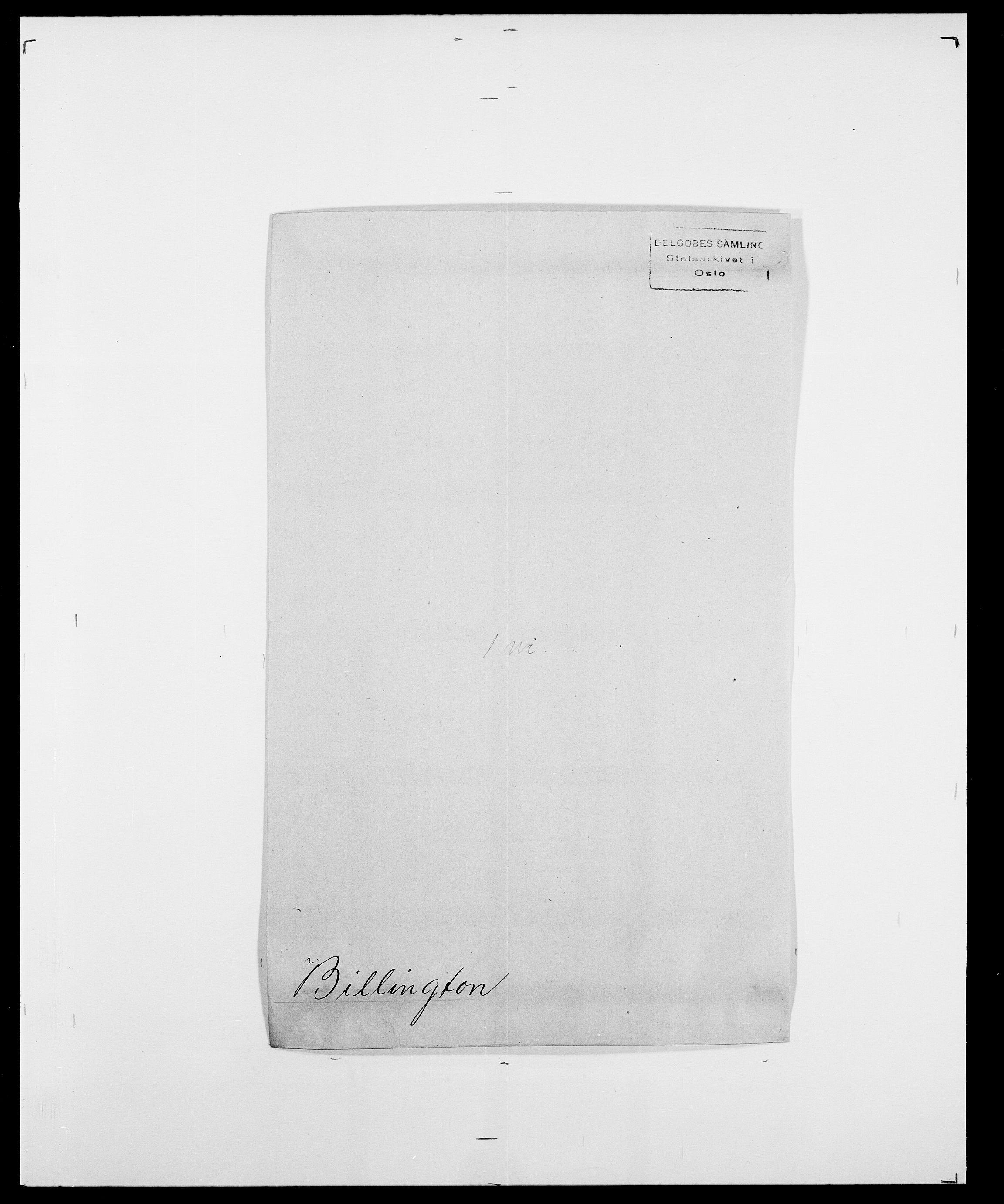 SAO, Delgobe, Charles Antoine - samling, D/Da/L0004: Bergendahl - Blære, s. 305