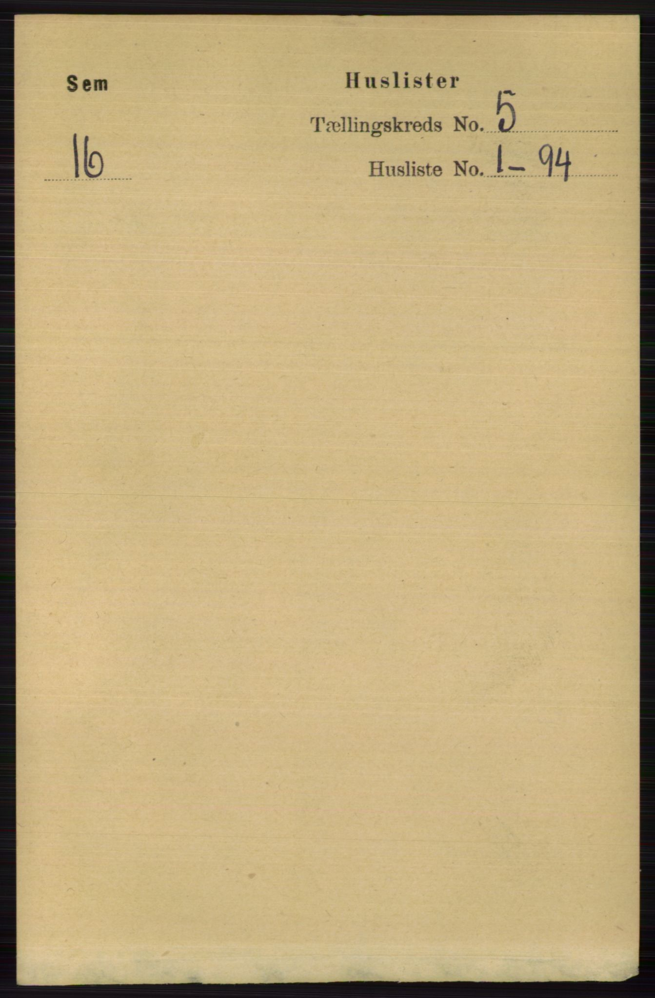 RA, Folketelling 1891 for 0721 Sem herred, 1891, s. 1965