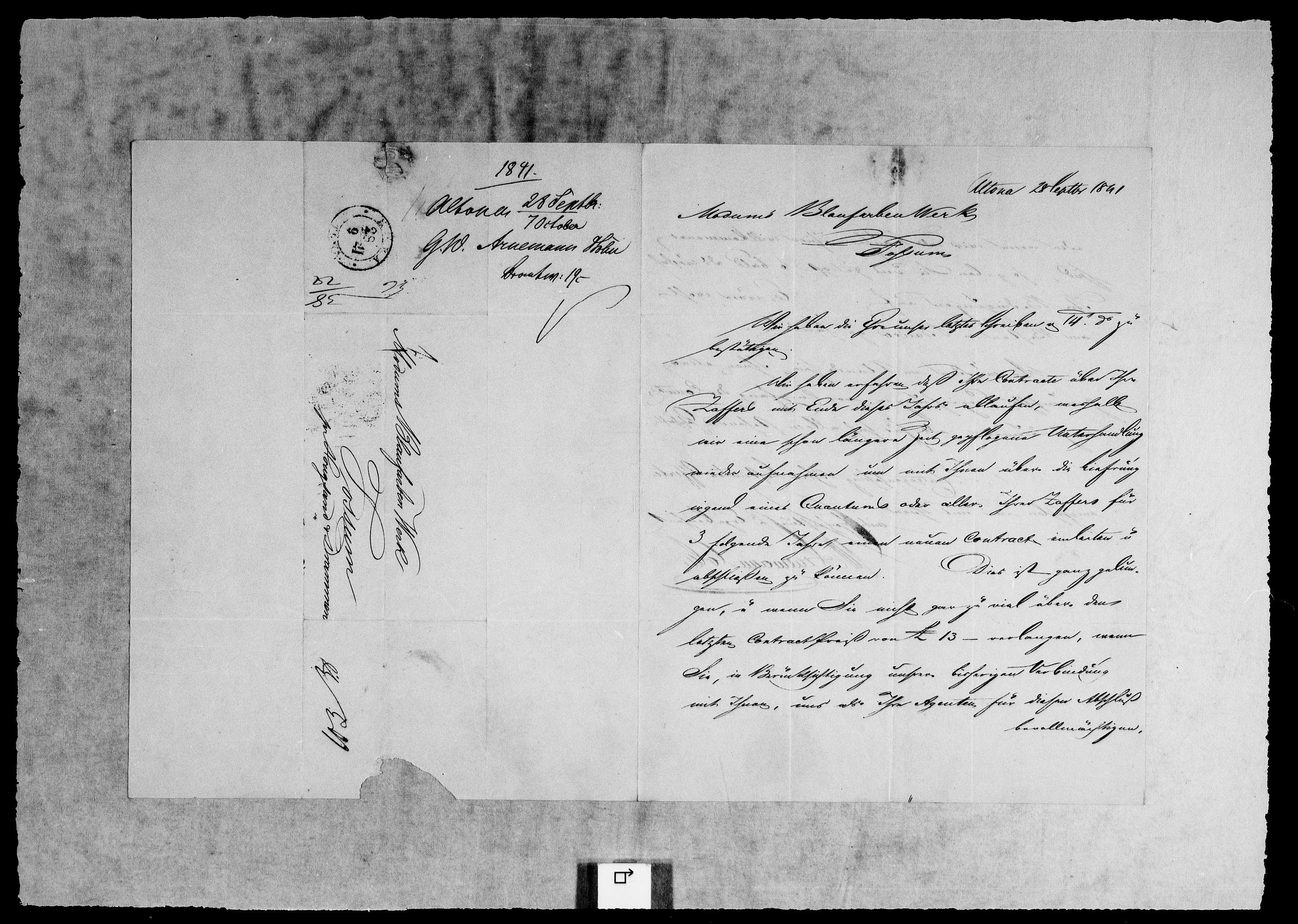 RA, Modums Blaafarveværk, G/Gb/L0126, 1841-1842, s. 2