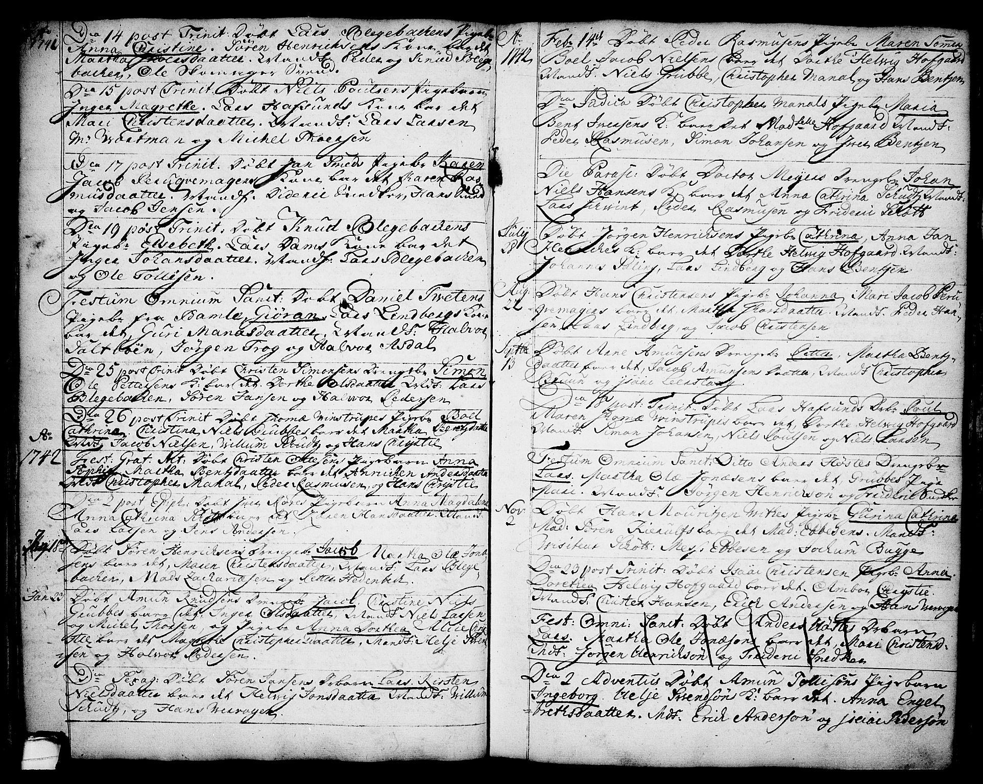SAKO, Brevik kirkebøker, F/Fa/L0002: Ministerialbok nr. 2, 1720-1764, s. 34m