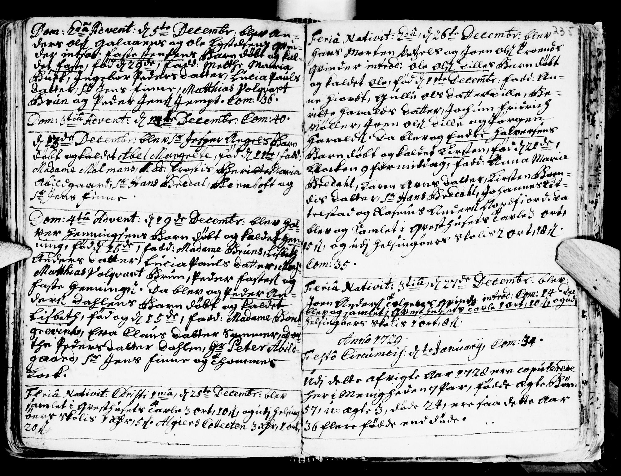 SAT, Ministerialprotokoller, klokkerbøker og fødselsregistre - Sør-Trøndelag, 681/L0924: Ministerialbok nr. 681A02, 1720-1731, s. 234-235