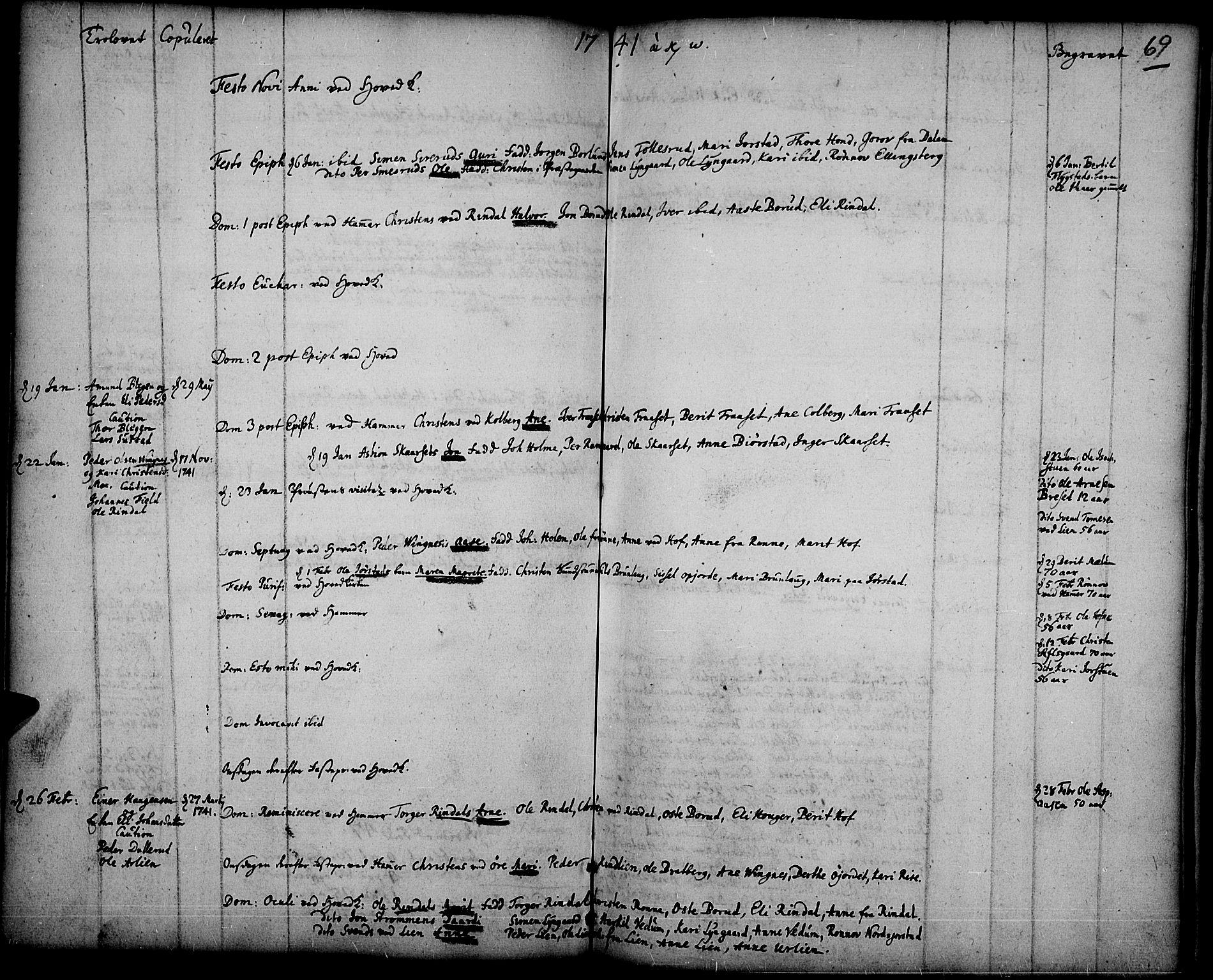 SAH, Fåberg prestekontor, Ministerialbok nr. 1, 1727-1775, s. 69