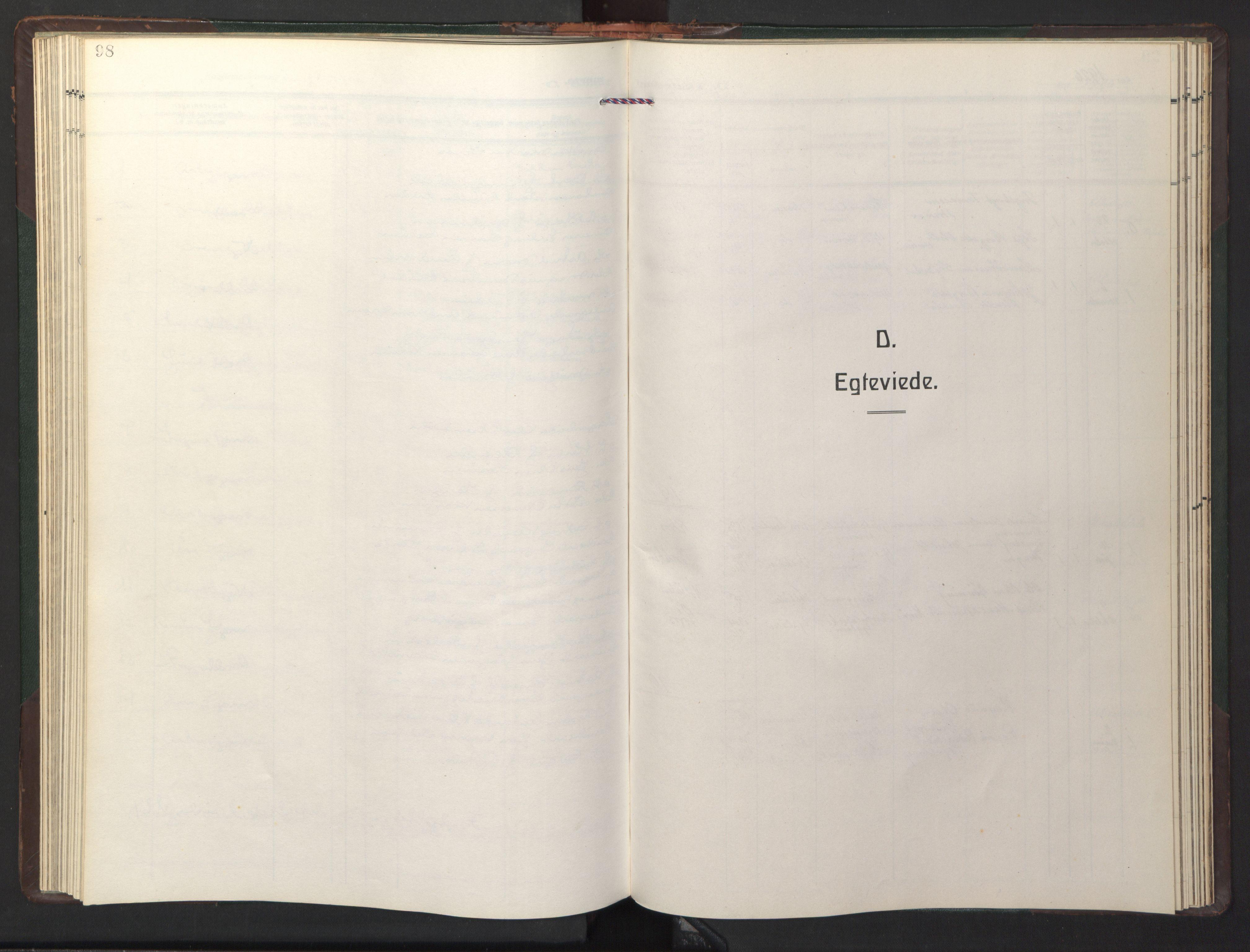 SAT, Ministerialprotokoller, klokkerbøker og fødselsregistre - Sør-Trøndelag, 681/L0944: Klokkerbok nr. 681C08, 1926-1954, s. 98
