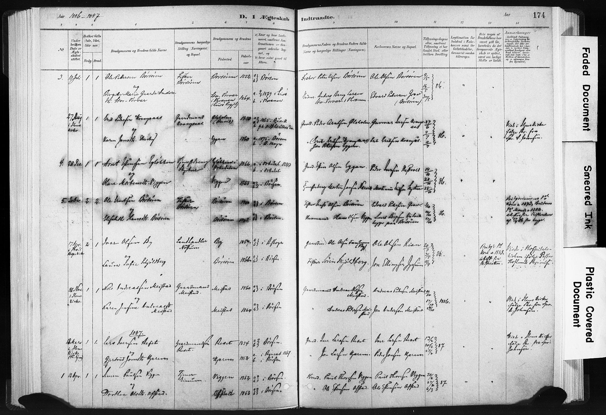 SAT, Ministerialprotokoller, klokkerbøker og fødselsregistre - Sør-Trøndelag, 665/L0773: Ministerialbok nr. 665A08, 1879-1905, s. 174