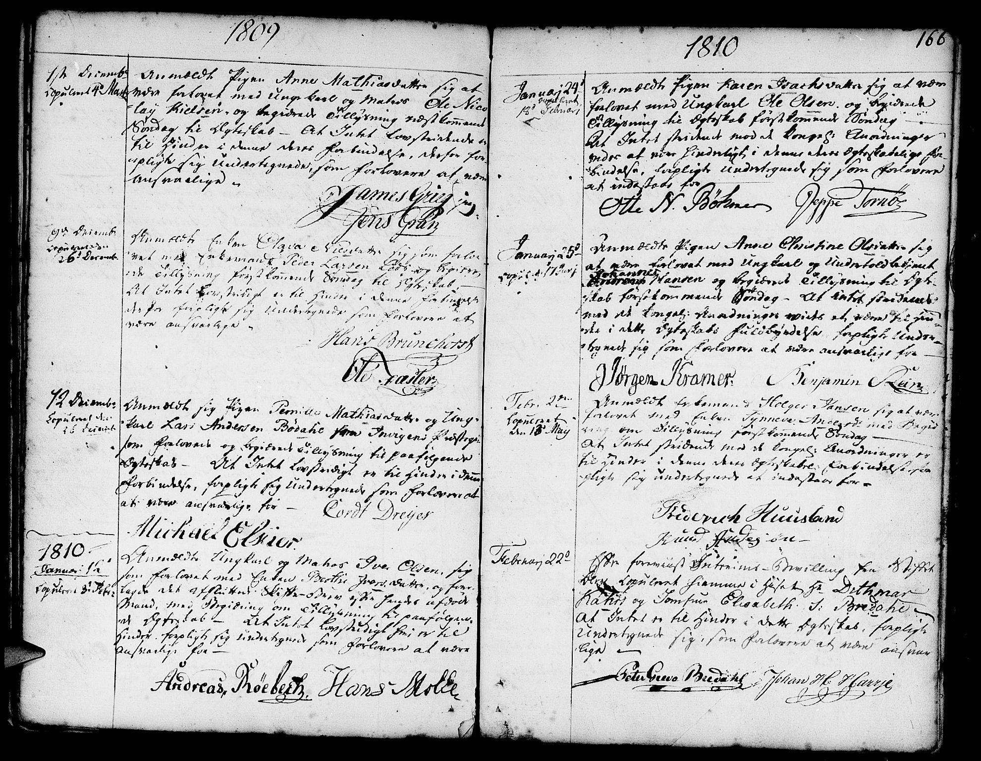SAB, Nykirken Sokneprestembete, H/Haa: Ministerialbok nr. A 8, 1776-1814, s. 166