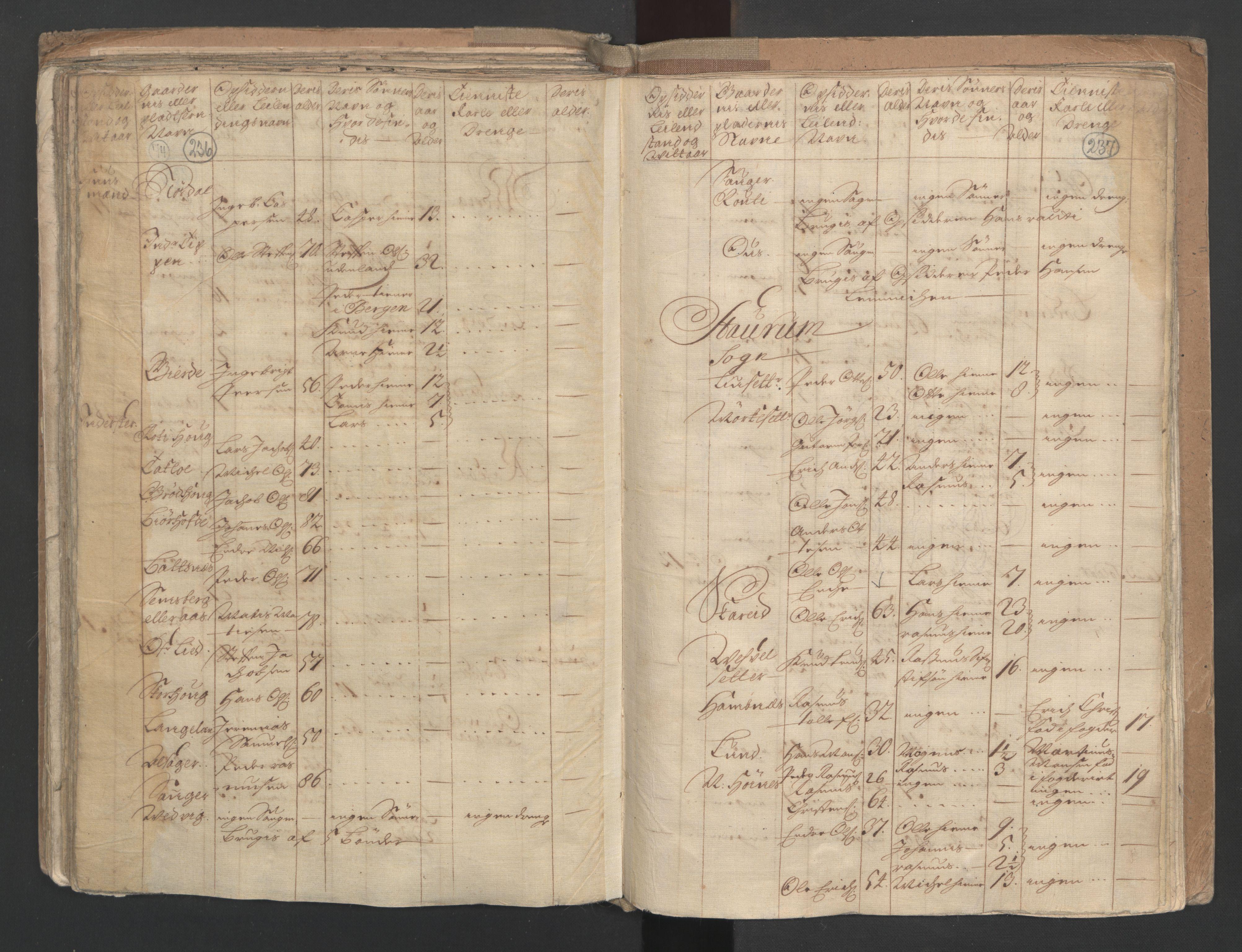 RA, Manntallet 1701, nr. 9: Sunnfjord fogderi, Nordfjord fogderi og Svanø birk, 1701, s. 236-237