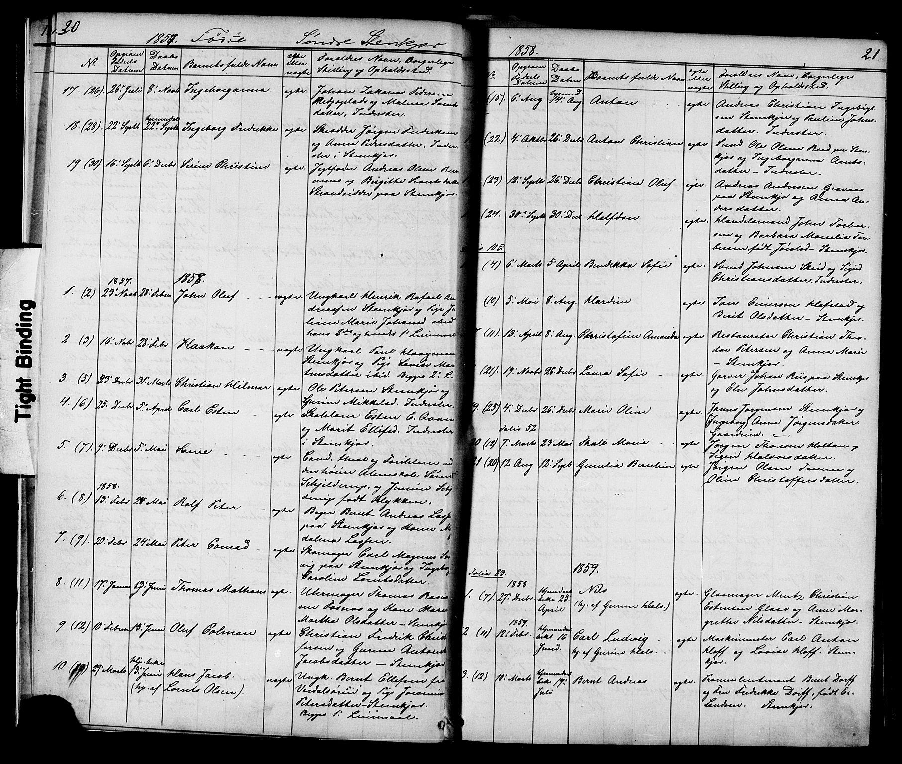 SAT, Ministerialprotokoller, klokkerbøker og fødselsregistre - Nord-Trøndelag, 739/L0367: Ministerialbok nr. 739A01 /1, 1838-1868, s. 20-21