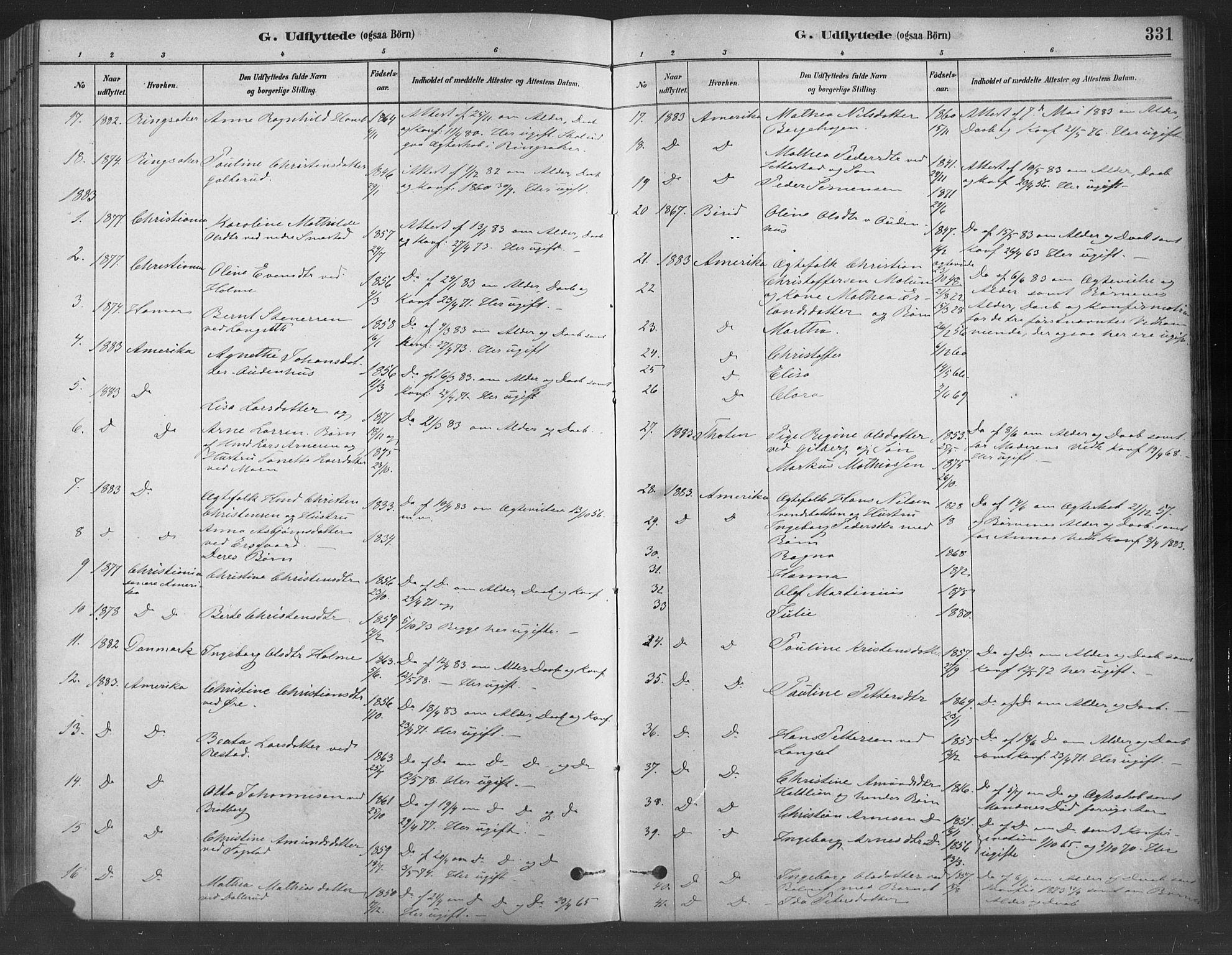 SAH, Fåberg prestekontor, Ministerialbok nr. 9, 1879-1898, s. 331