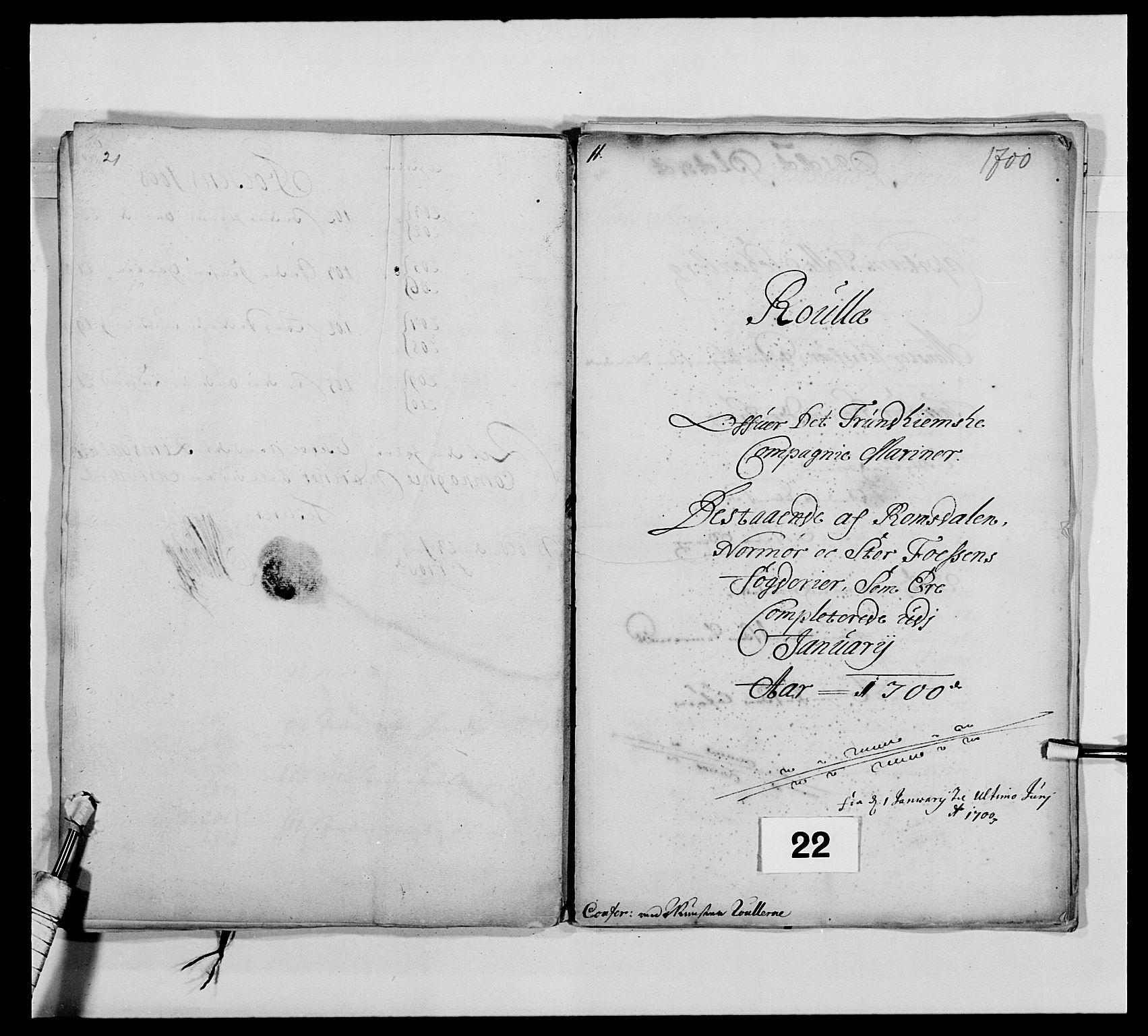 RA, Kommanderende general (KG I) med Det norske krigsdirektorium, E/Ea/L0473: Marineregimentet, 1664-1700, s. 268