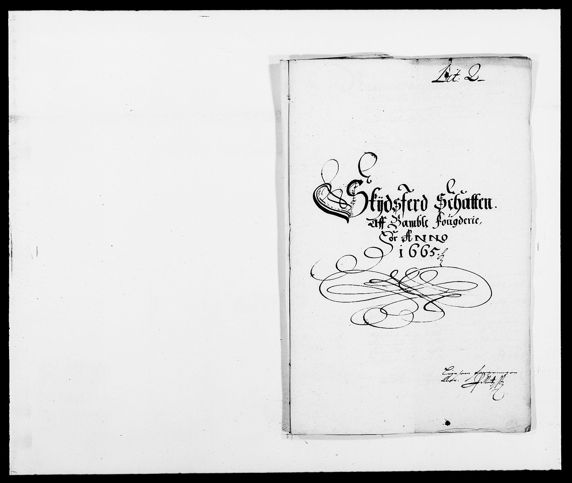 RA, Rentekammeret inntil 1814, Reviderte regnskaper, Fogderegnskap, R34/L2038: Fogderegnskap Bamble, 1662-1669, s. 234