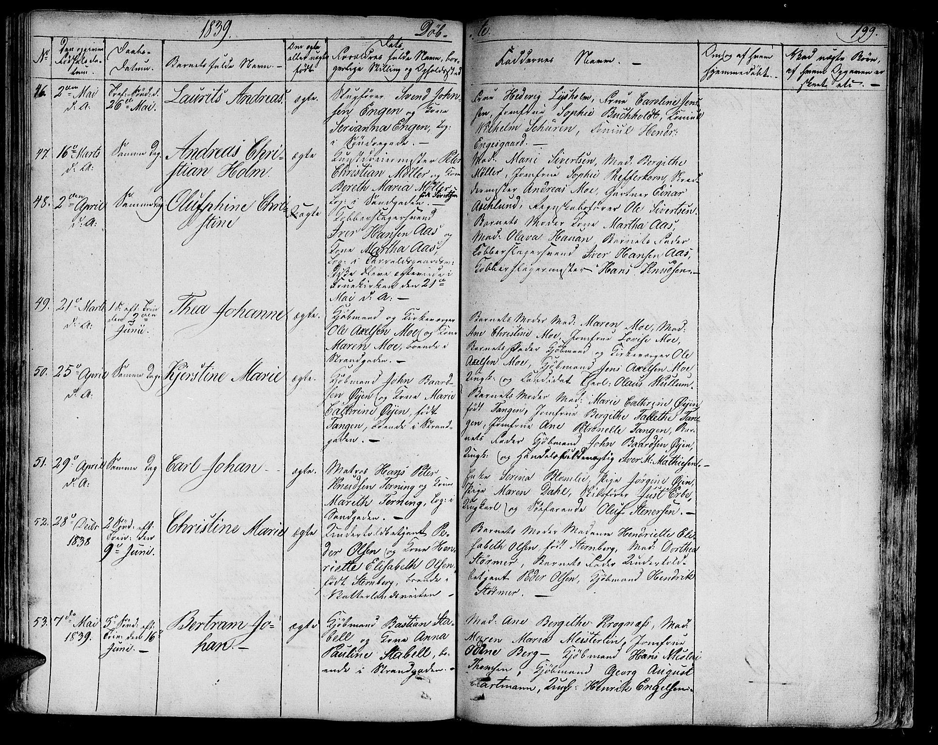 SAT, Ministerialprotokoller, klokkerbøker og fødselsregistre - Sør-Trøndelag, 602/L0108: Ministerialbok nr. 602A06, 1821-1839, s. 199