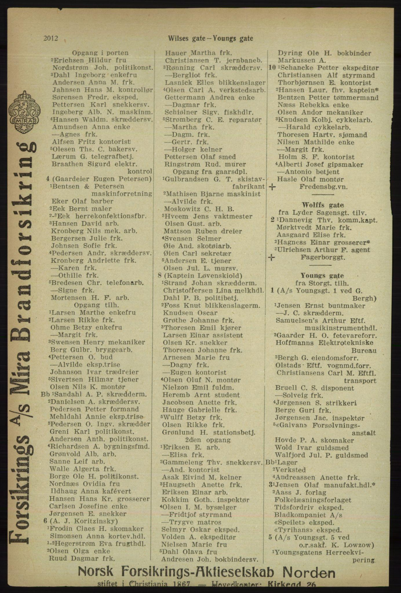 PUBL, Kristiania/Oslo adressebok, 1918, s. 2165