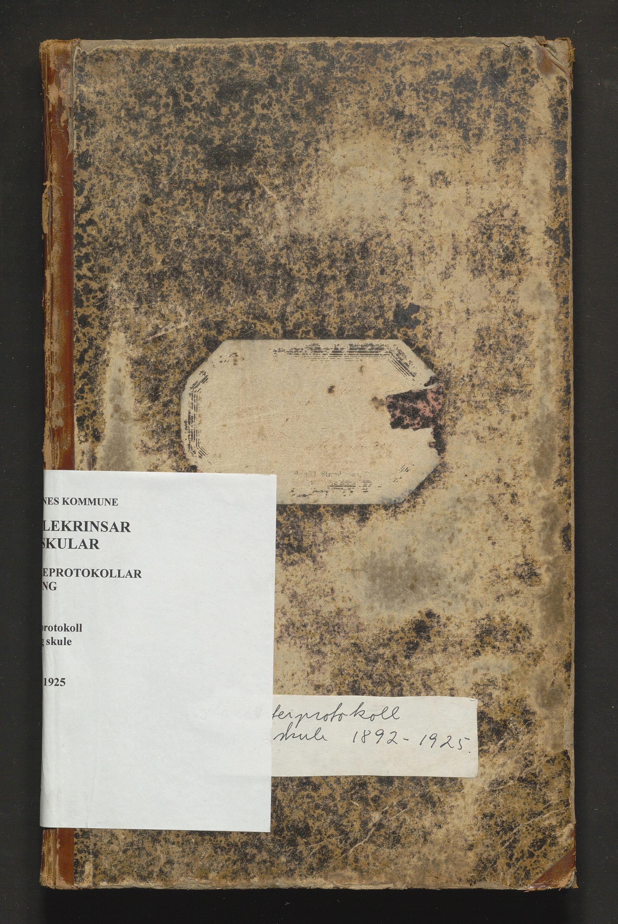 IKAH, Bremnes kommune. Barneskulane, F/Fd/L0007: Skuleprotokoll for Meling skule, 1892-1925