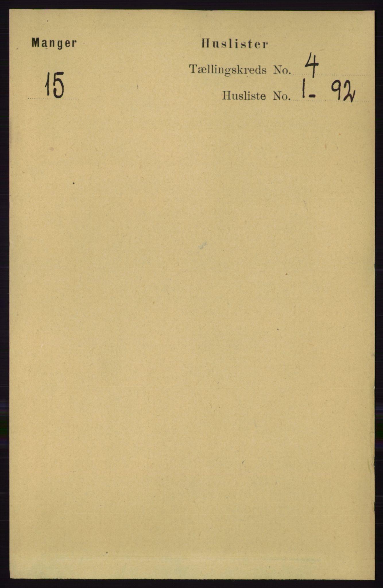 RA, Folketelling 1891 for 1261 Manger herred, 1891, s. 1857