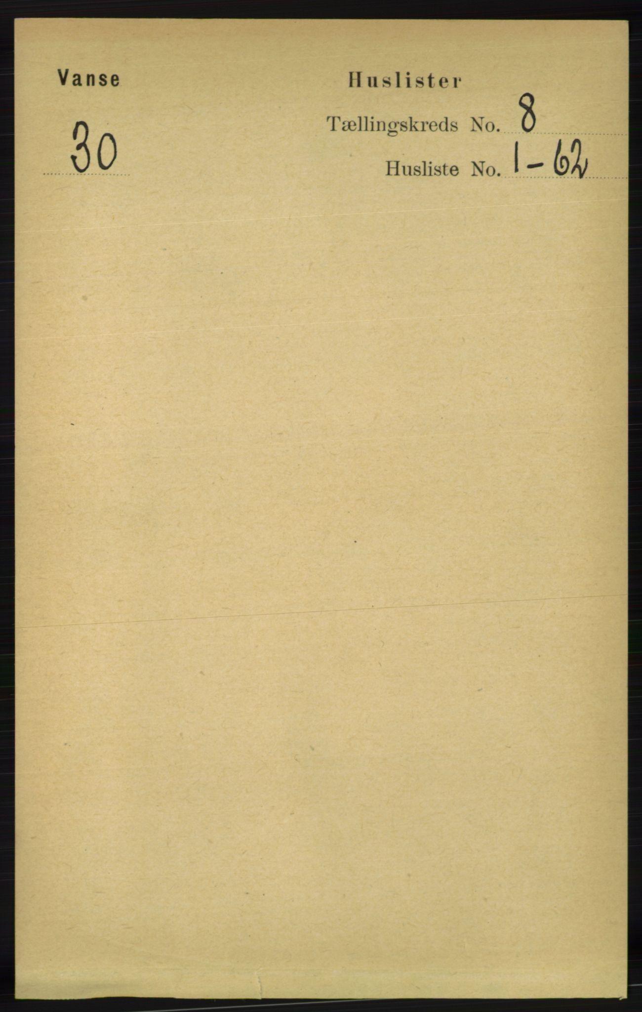 RA, Folketelling 1891 for 1041 Vanse herred, 1891, s. 4840