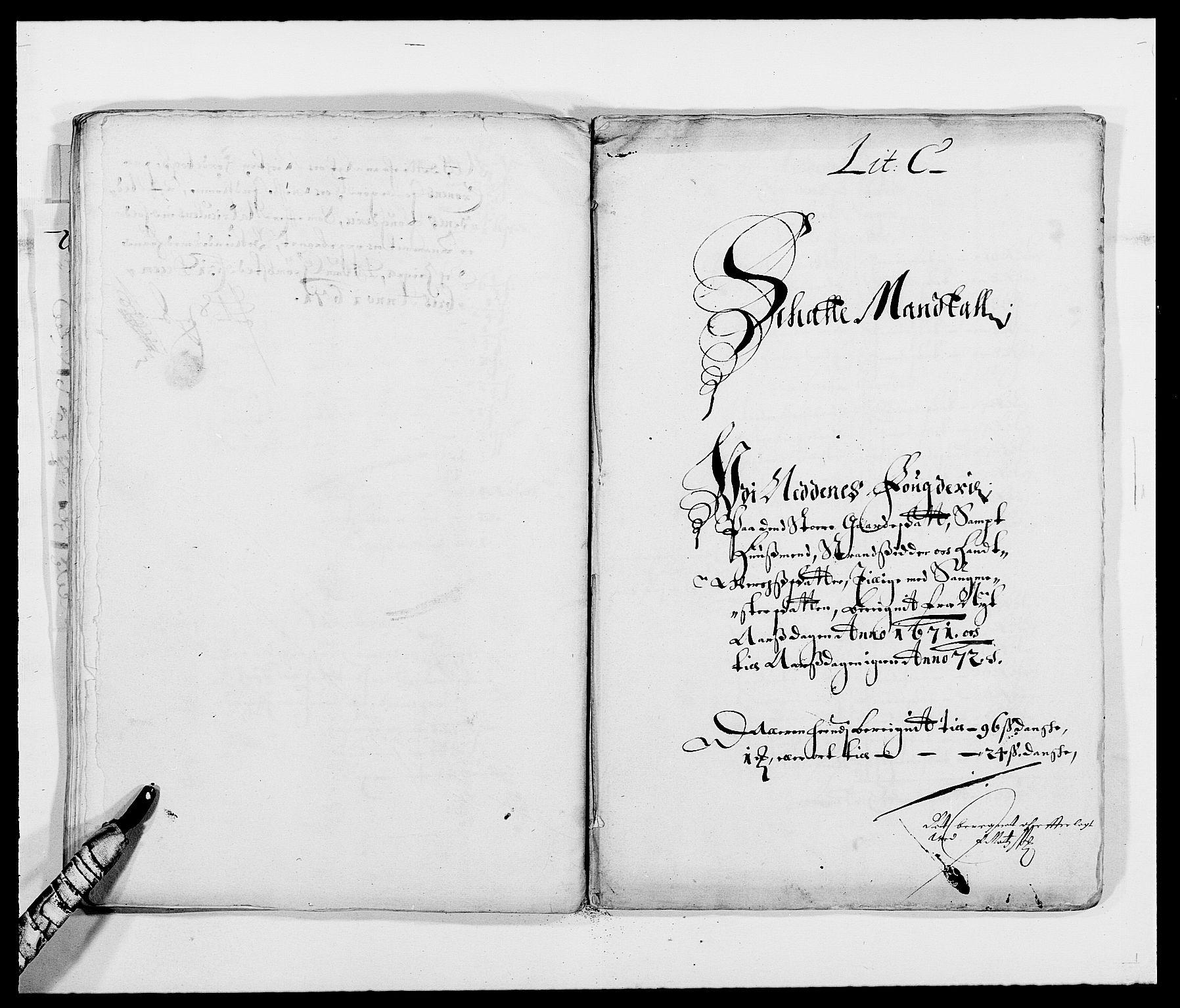 RA, Rentekammeret inntil 1814, Reviderte regnskaper, Fogderegnskap, R39/L2299: Fogderegnskap Nedenes, 1670-1671, s. 206