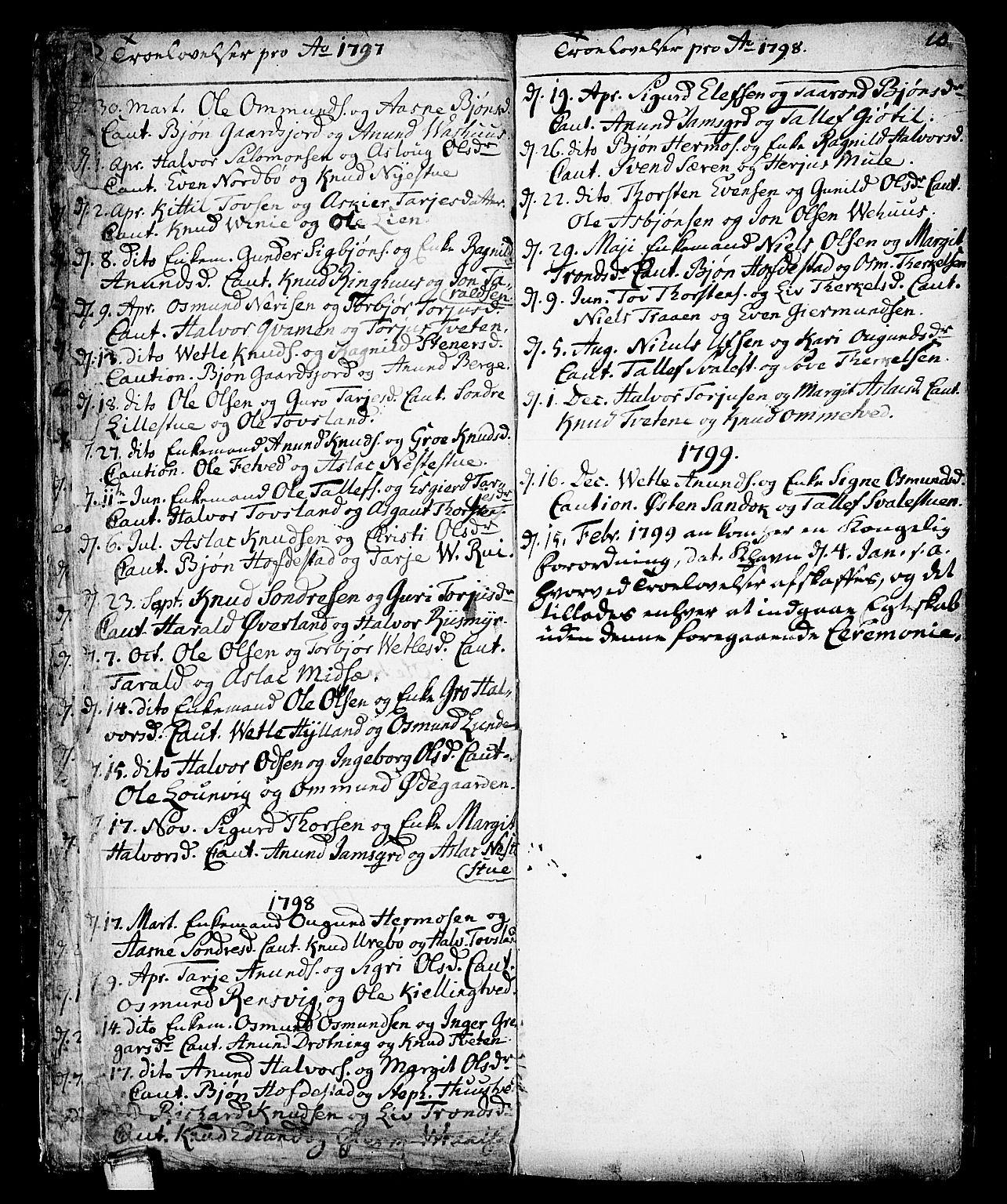 SAKO, Vinje kirkebøker, F/Fa/L0002: Ministerialbok nr. I 2, 1767-1814, s. 10