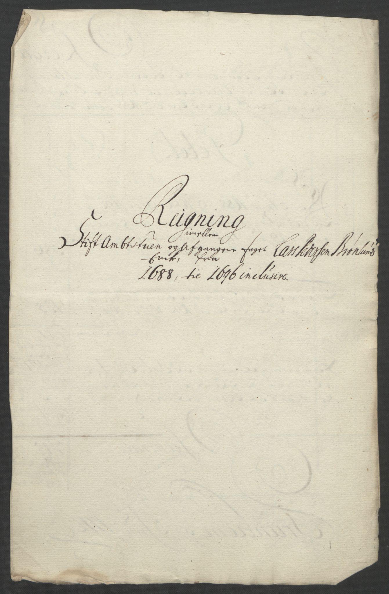RA, Rentekammeret inntil 1814, Reviderte regnskaper, Fogderegnskap, R57/L3851: Fogderegnskap Fosen, 1695-1696, s. 356