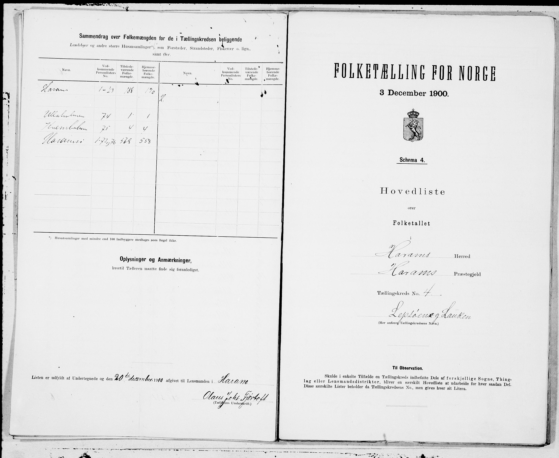 SAT, Folketelling 1900 for 1534 Haram herred, 1900, s. 8