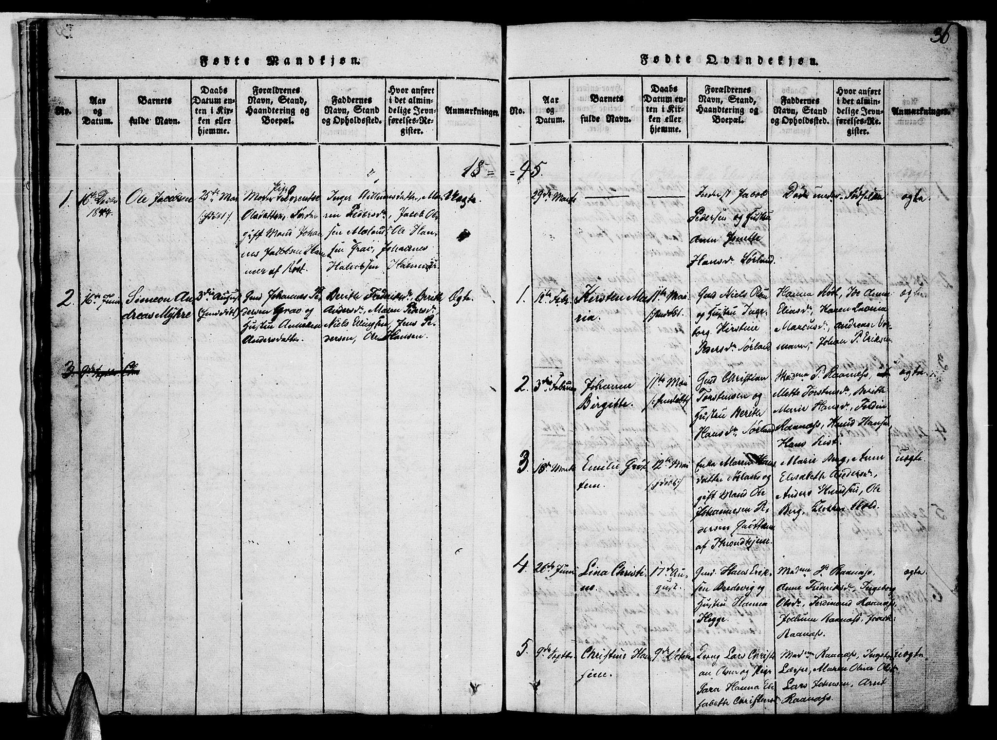 SAT, Ministerialprotokoller, klokkerbøker og fødselsregistre - Nordland, 807/L0120: Ministerialbok nr. 807A03, 1821-1848, s. 36