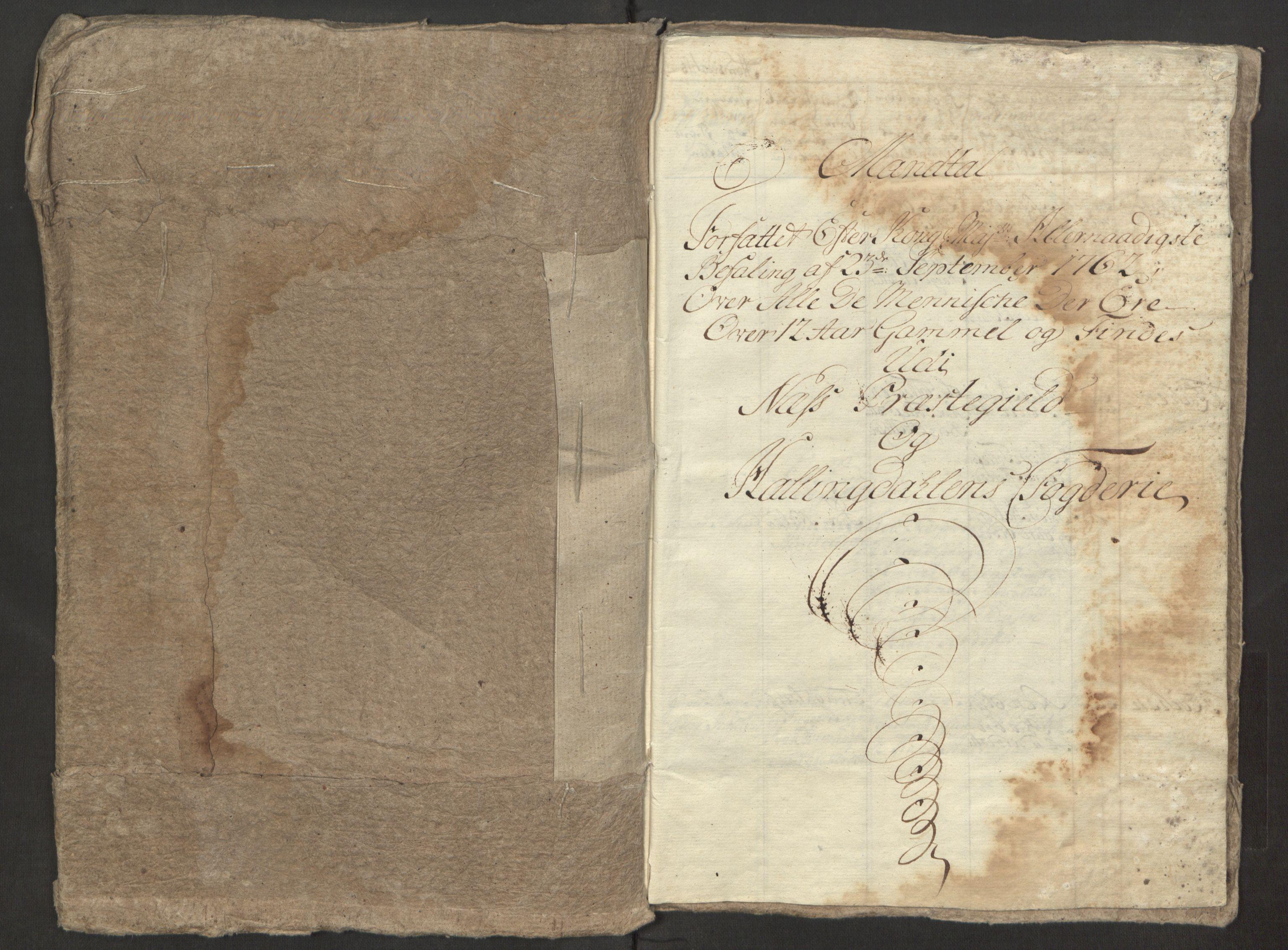 RA, Rentekammeret inntil 1814, Reviderte regnskaper, Fogderegnskap, R23/L1565: Ekstraskatten Ringerike og Hallingdal, 1762-1763, s. 121