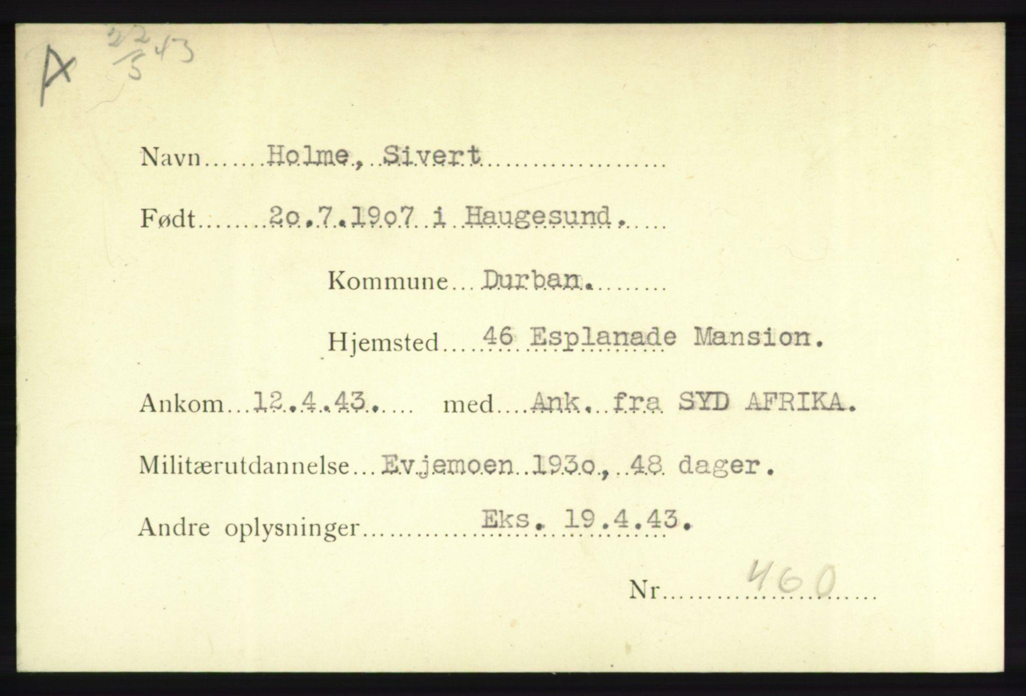NHM, Forsvarets Overkommando. 2. kontor. Arkiv 8.1. Mottakersentralen FDE og FO.II, P/Pa/L0009: Kortsamling, 1940-1945, s. 2