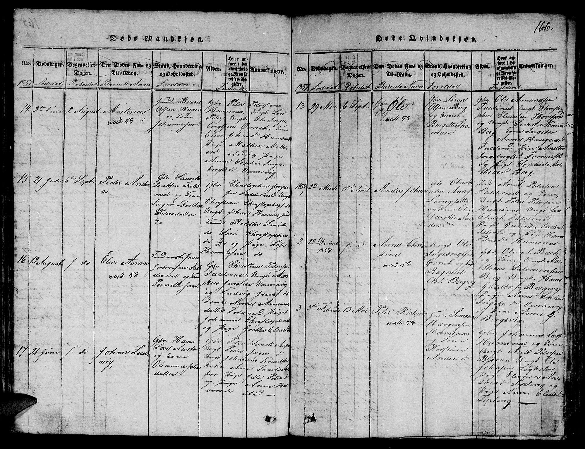 SAT, Ministerialprotokoller, klokkerbøker og fødselsregistre - Nord-Trøndelag, 780/L0648: Klokkerbok nr. 780C01 /3, 1815-1877, s. 166