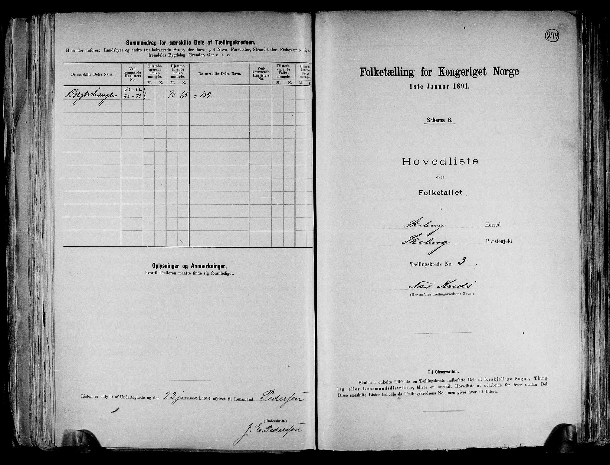 RA, Folketelling 1891 for 0115 Skjeberg herred, 1891, s. 10