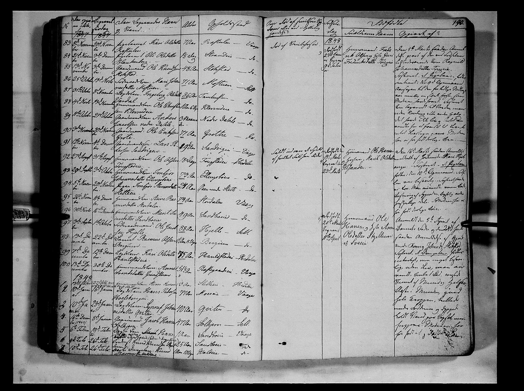 SAH, Vågå prestekontor, Ministerialbok nr. 5 /1, 1842-1856, s. 190