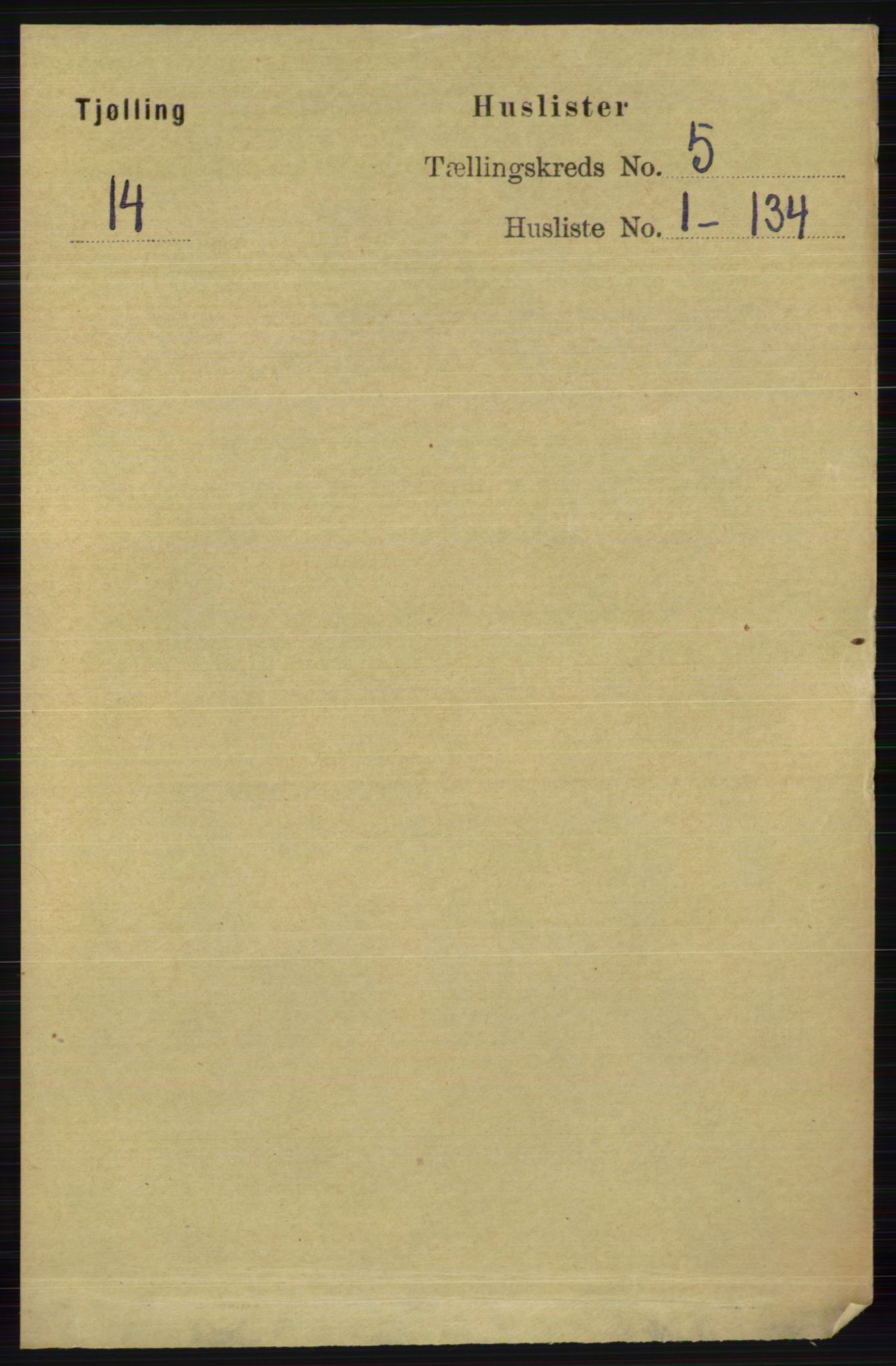 RA, Folketelling 1891 for 0725 Tjølling herred, 1891, s. 1835