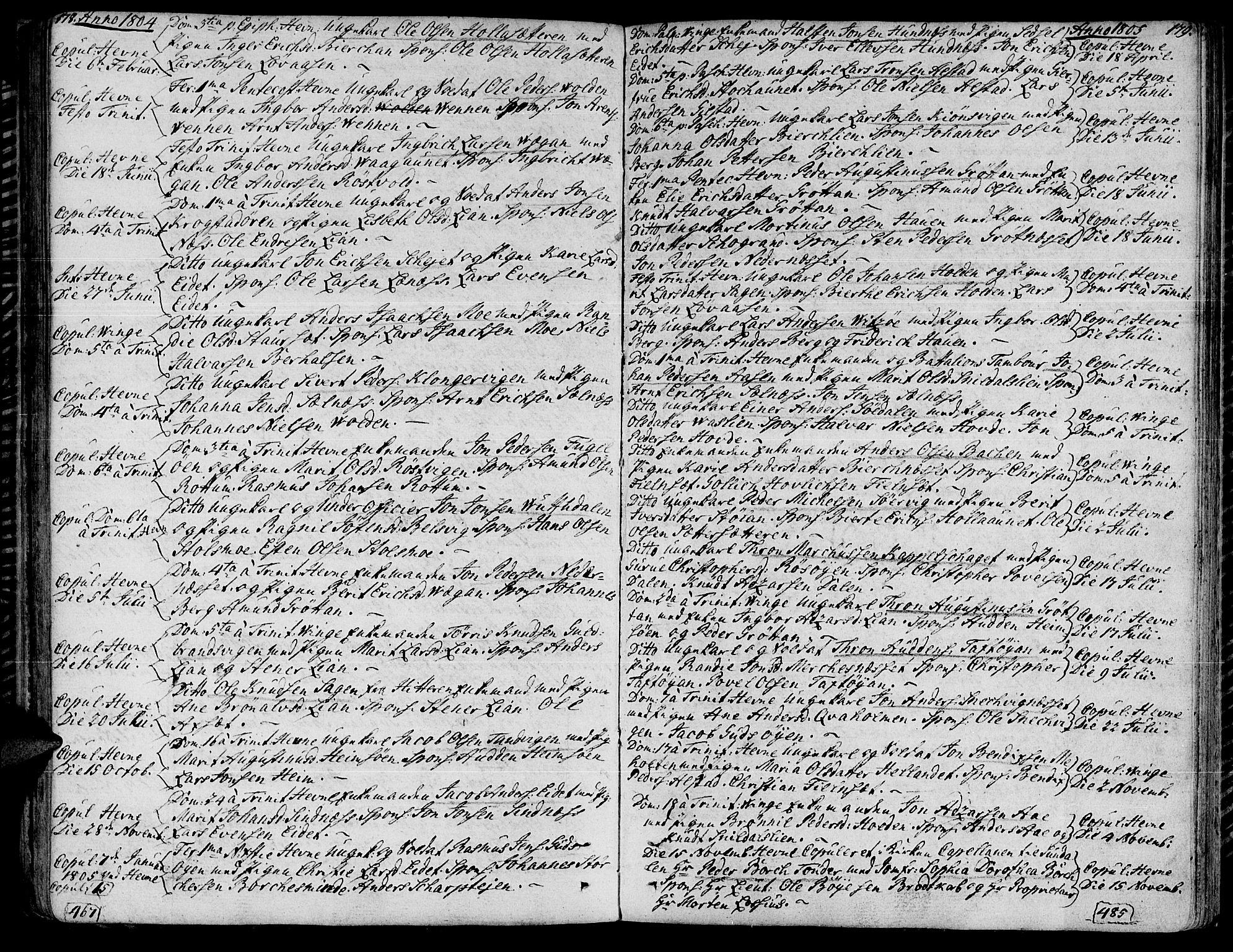 SAT, Ministerialprotokoller, klokkerbøker og fødselsregistre - Sør-Trøndelag, 630/L0490: Ministerialbok nr. 630A03, 1795-1818, s. 178-179