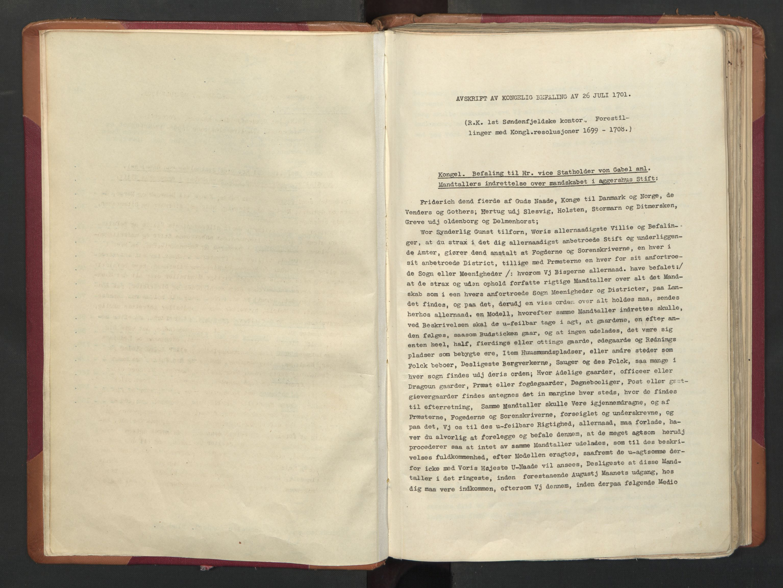 RA, Manntallet 1701, nr. 16: Helgeland fogderi, 1701, s. upaginert