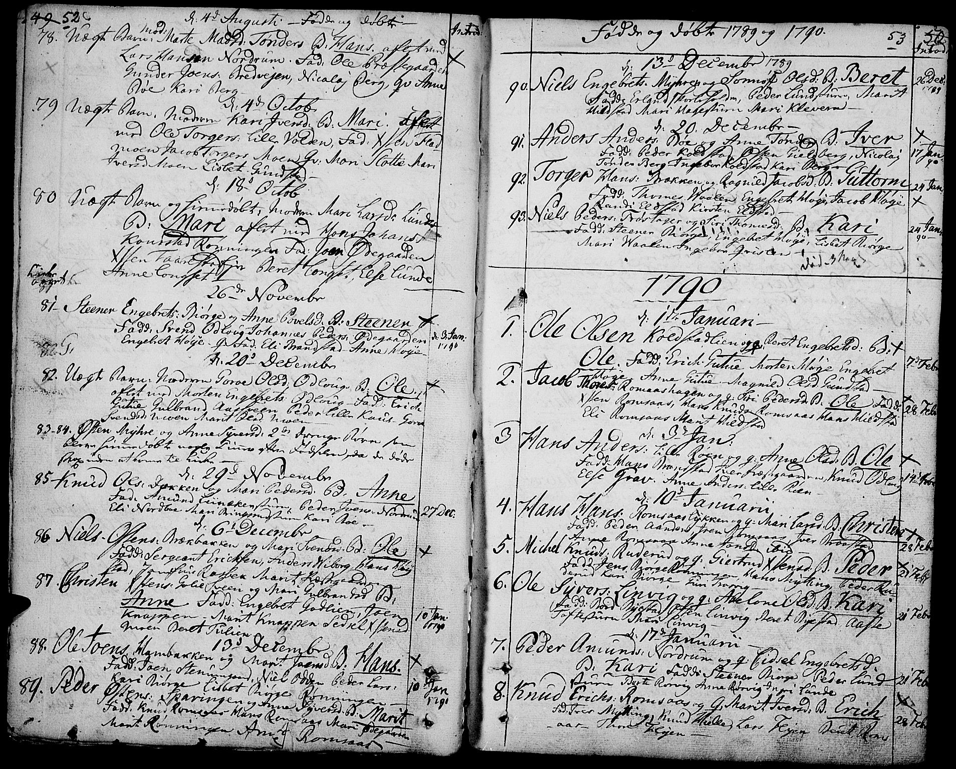 SAH, Ringebu prestekontor, Ministerialbok nr. 3, 1781-1820, s. 52-53