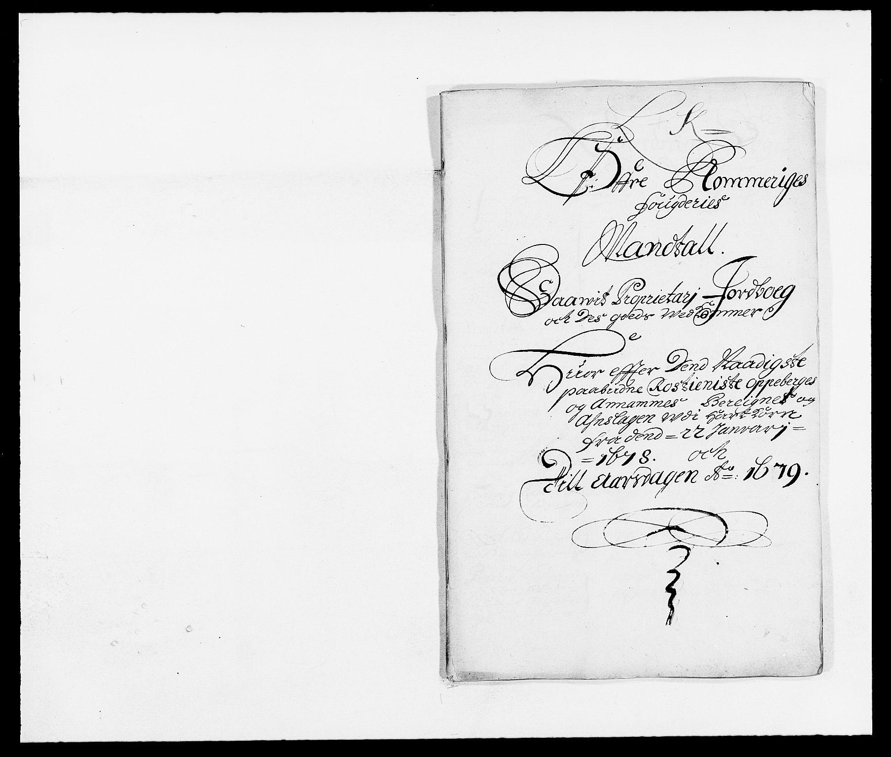 RA, Rentekammeret inntil 1814, Reviderte regnskaper, Fogderegnskap, R12/L0693: Fogderegnskap Øvre Romerike, 1678-1679, s. 263