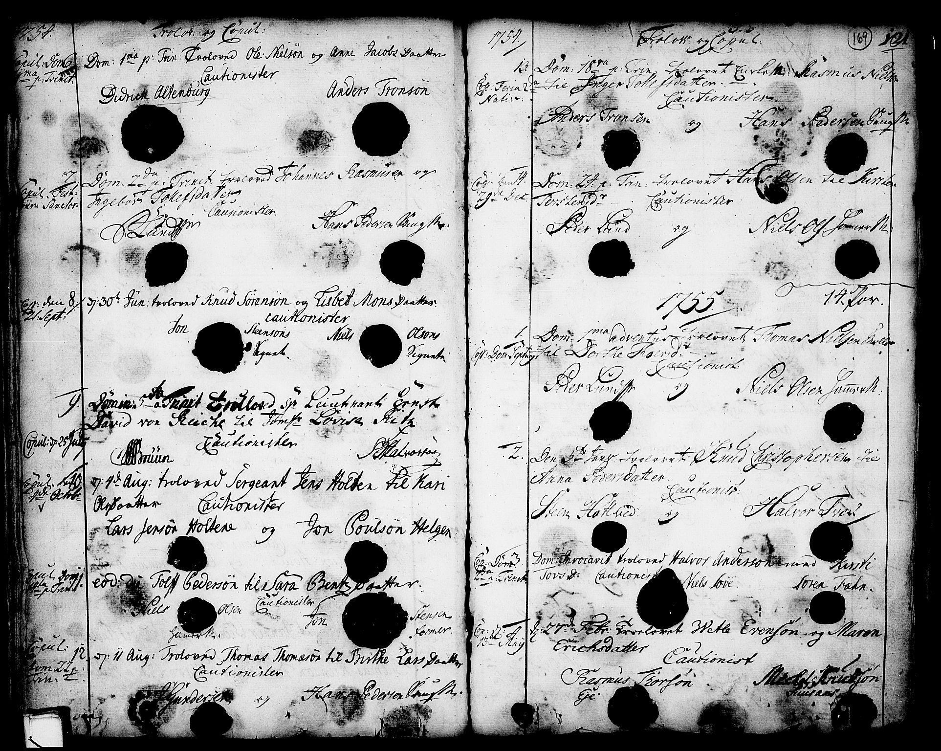 SAKO, Holla kirkebøker, F/Fa/L0001: Ministerialbok nr. 1, 1717-1779, s. 169