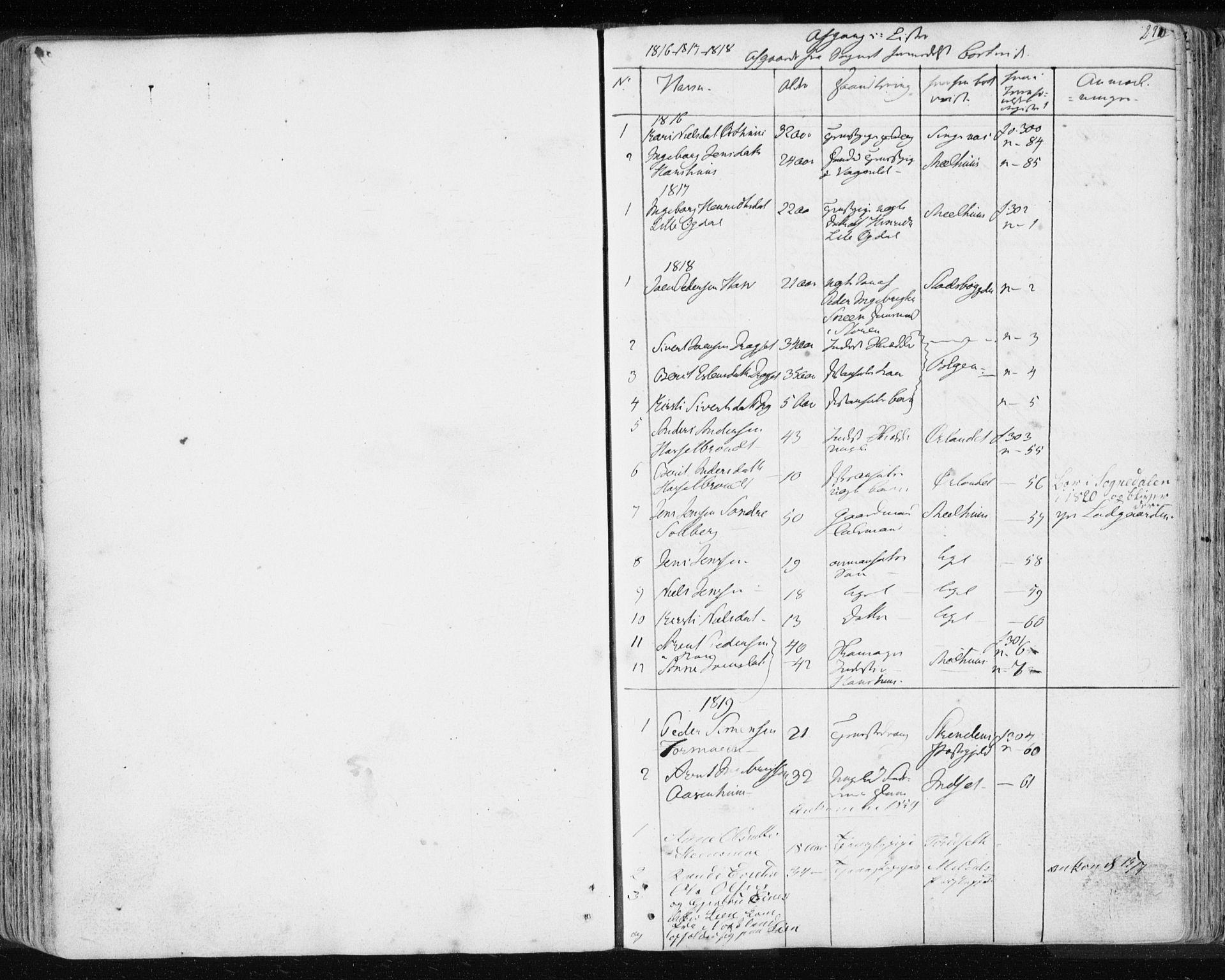 SAT, Ministerialprotokoller, klokkerbøker og fødselsregistre - Sør-Trøndelag, 689/L1043: Klokkerbok nr. 689C02, 1816-1892, s. 291