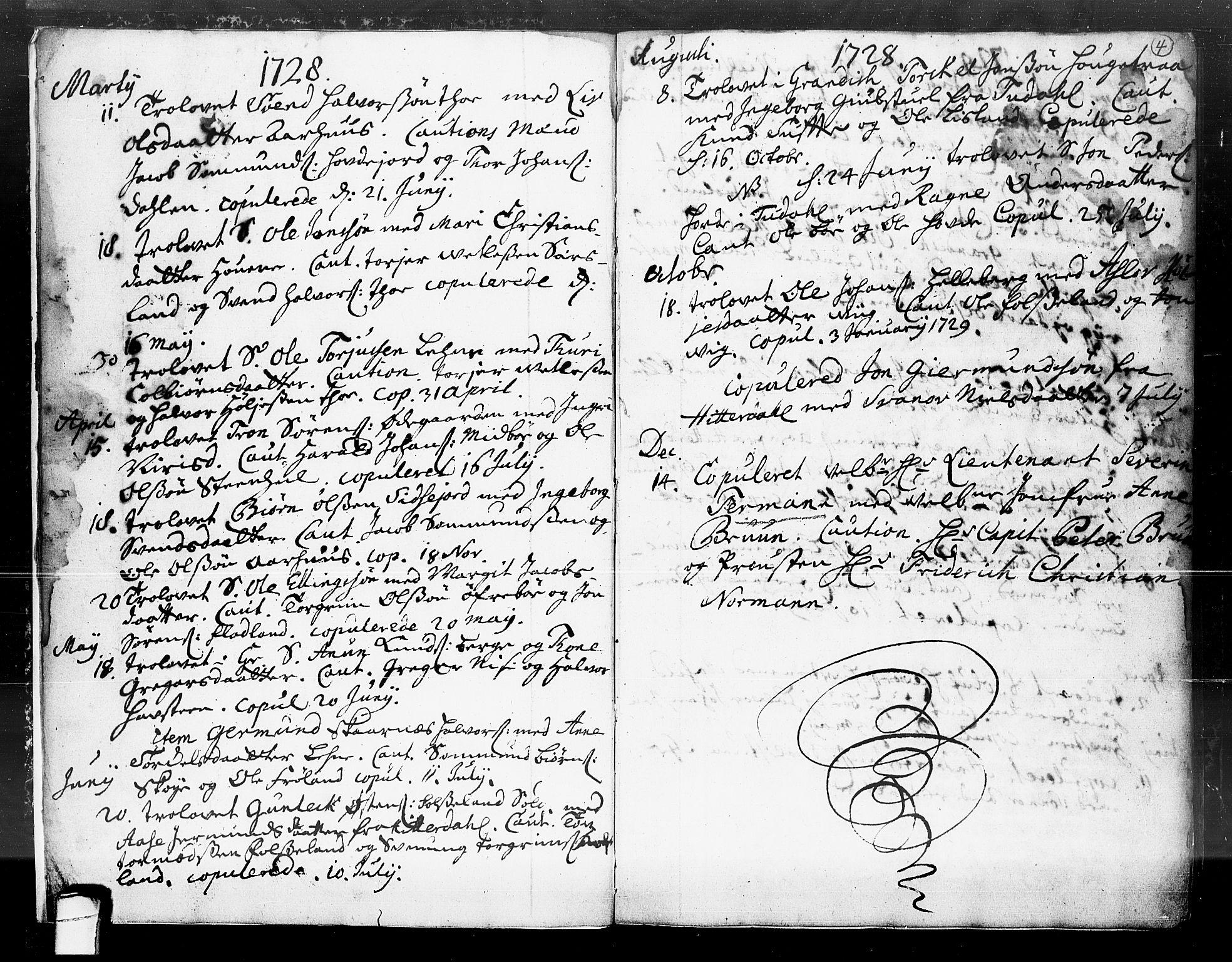 SAKO, Hjartdal kirkebøker, F/Fa/L0004: Ministerialbok nr. I 4, 1727-1795, s. 4