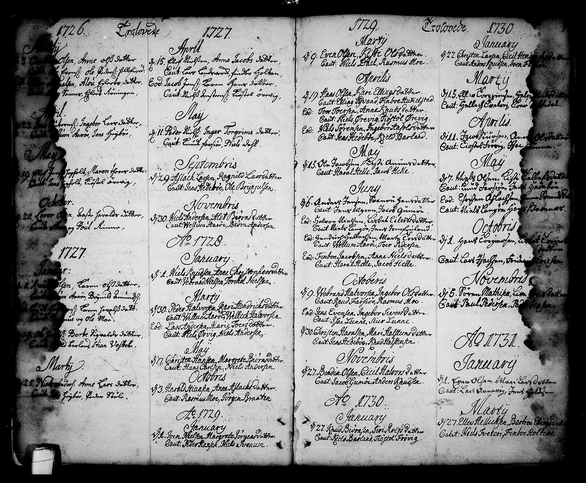 SAKO, Sannidal kirkebøker, F/Fa/L0001: Ministerialbok nr. 1, 1702-1766, s. 8-9