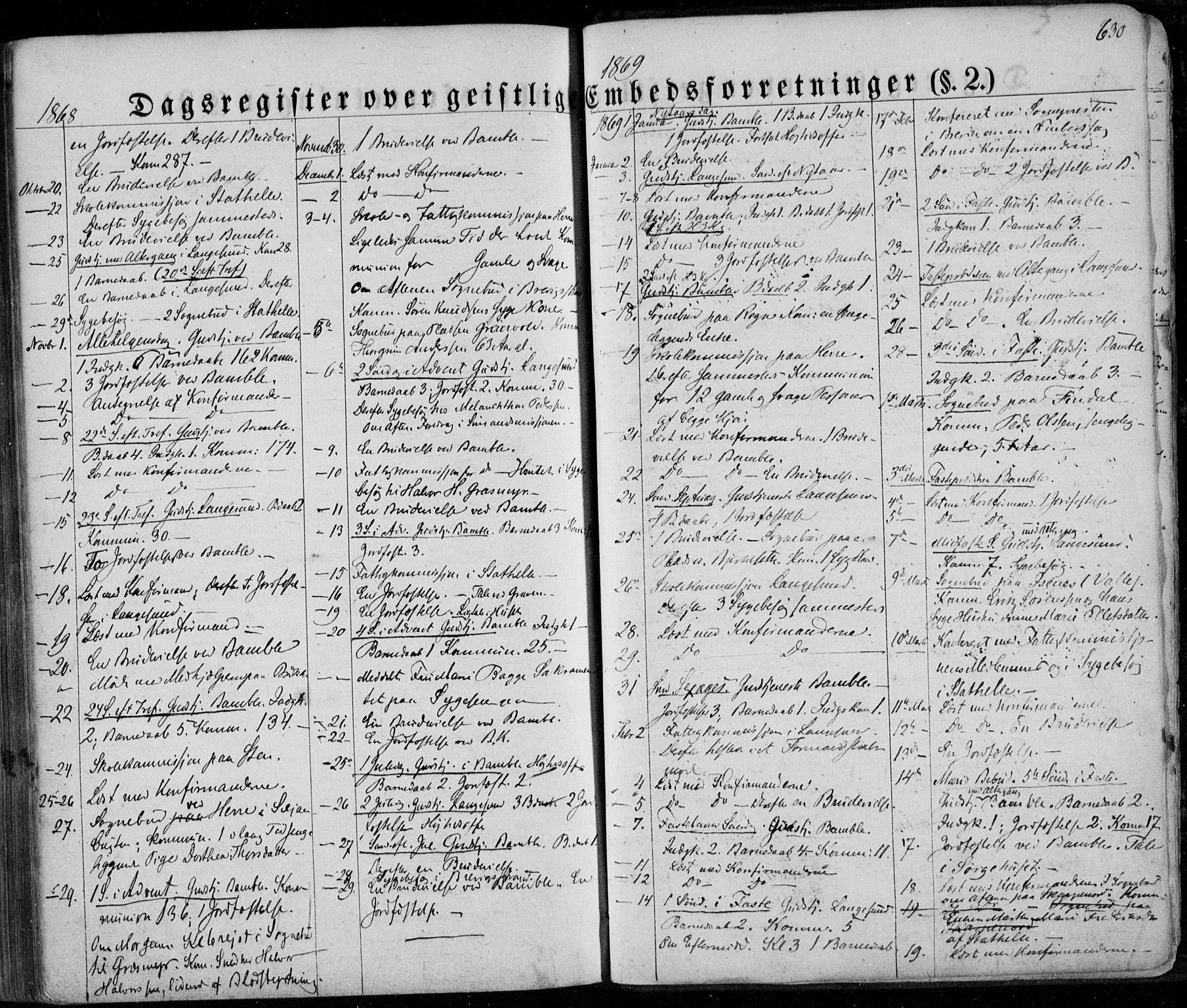 SAKO, Bamble kirkebøker, F/Fa/L0005: Ministerialbok nr. I 5, 1854-1869, s. 630
