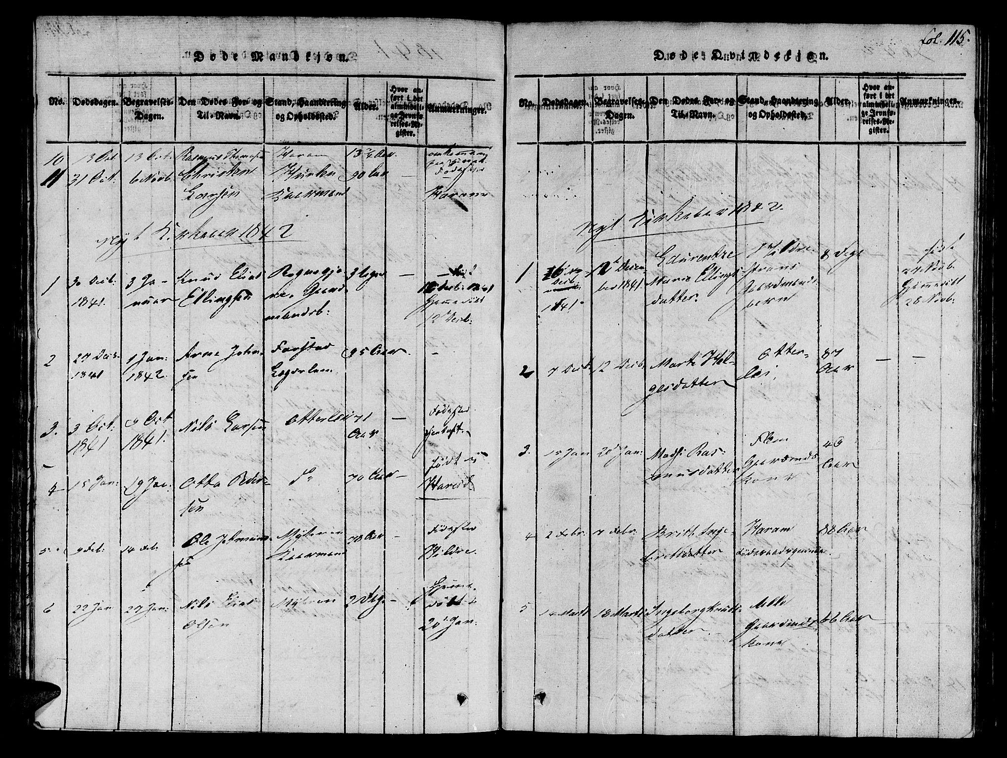 SAT, Ministerialprotokoller, klokkerbøker og fødselsregistre - Møre og Romsdal, 536/L0495: Ministerialbok nr. 536A04, 1818-1847, s. 115