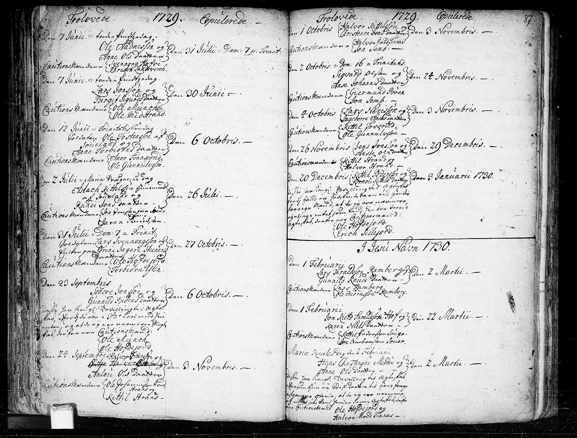 SAKO, Heddal kirkebøker, F/Fa/L0003: Ministerialbok nr. I 3, 1723-1783, s. 87
